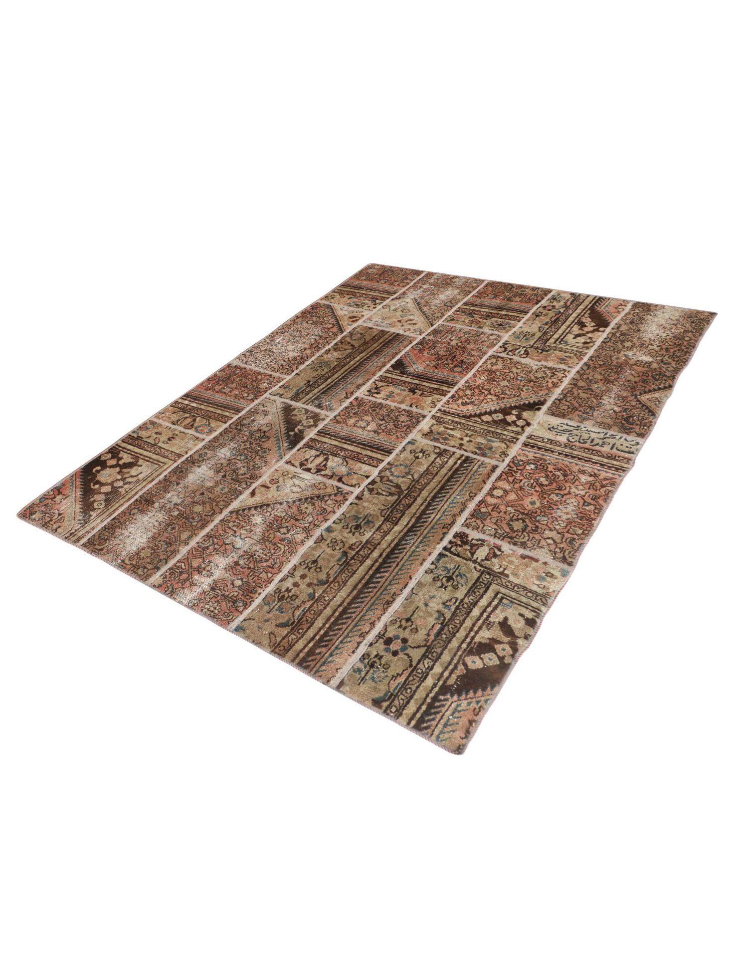 Persischer patchwork Teppich  beige <br/>243 x 175 cm
