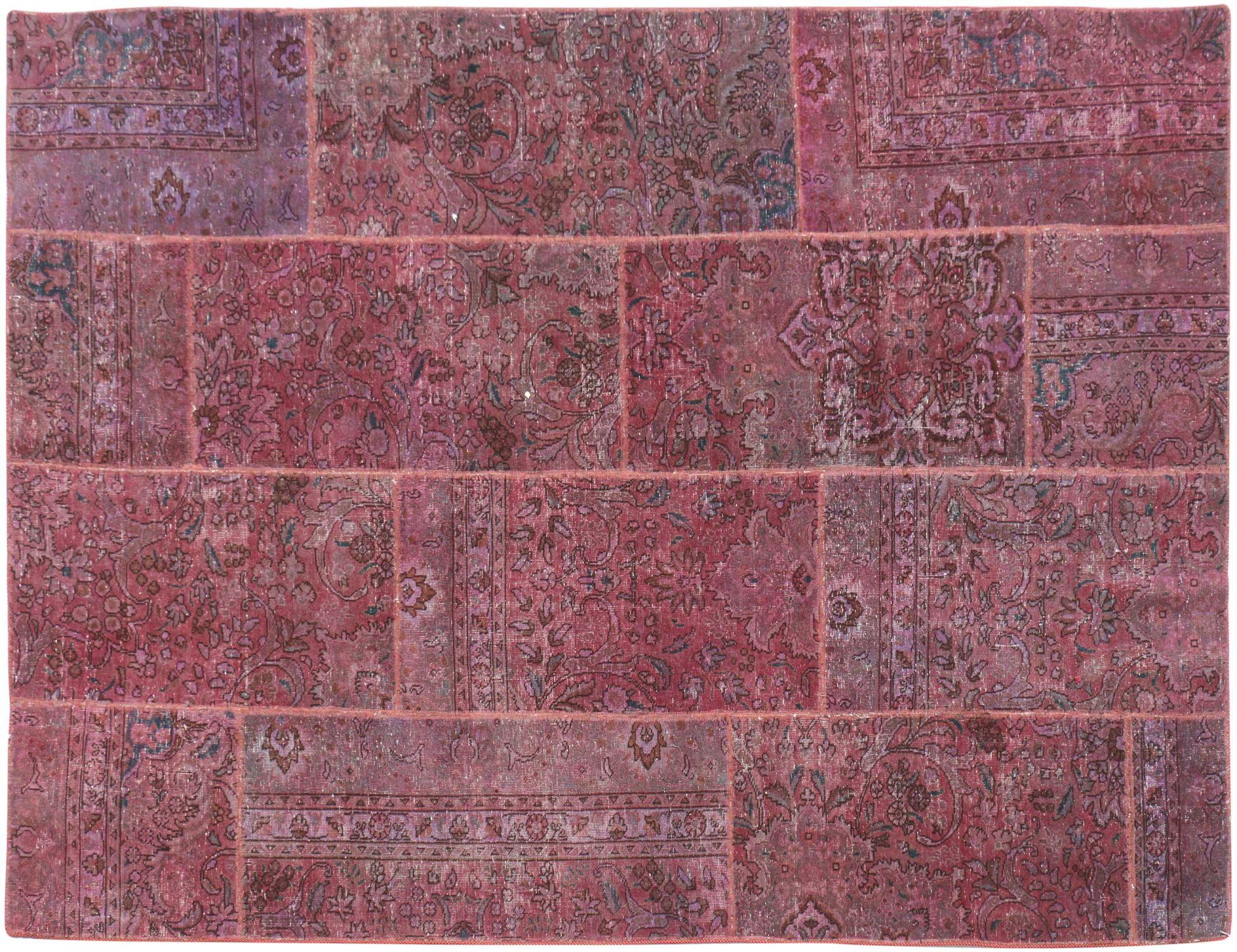 Patchwork tæppe  lilla <br/>305 x 200 cm