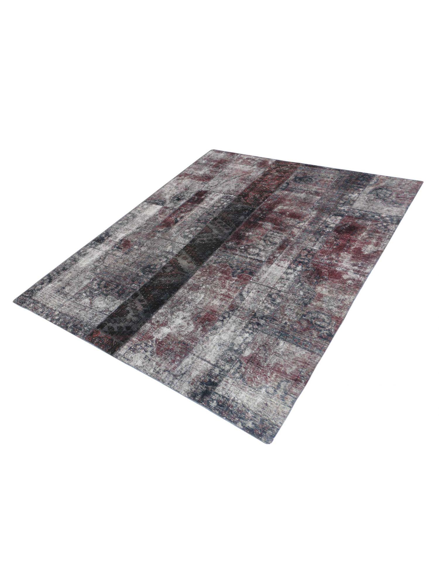 Patchwork Carpet  black <br/>240 x 190 cm