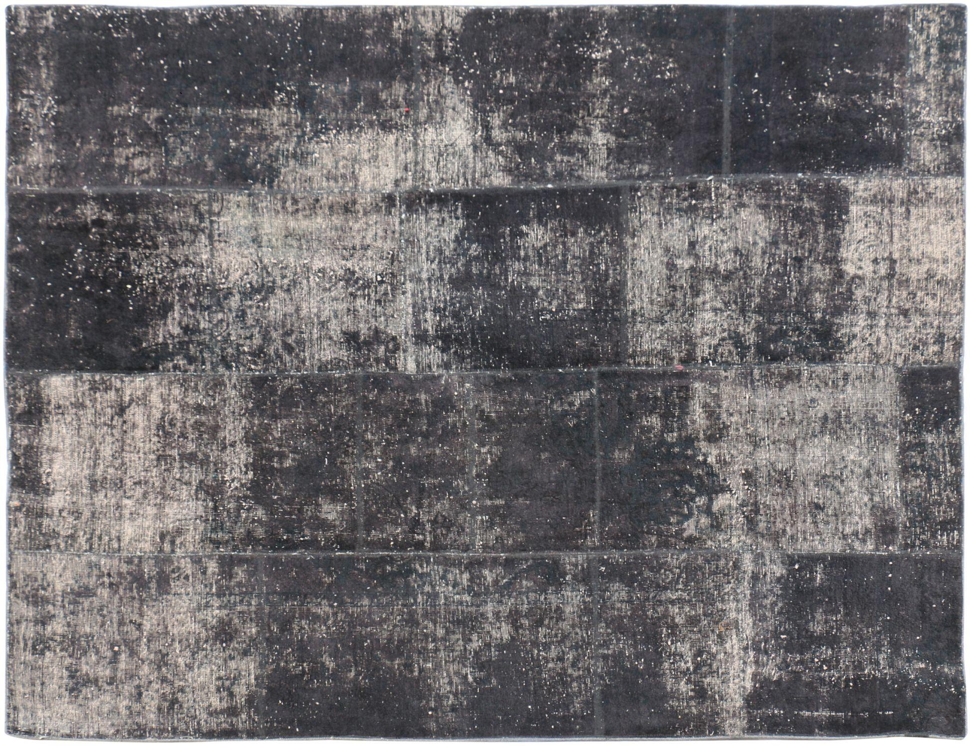 Patchwork Tapijt  zwarte  <br/>226 x 188 cm