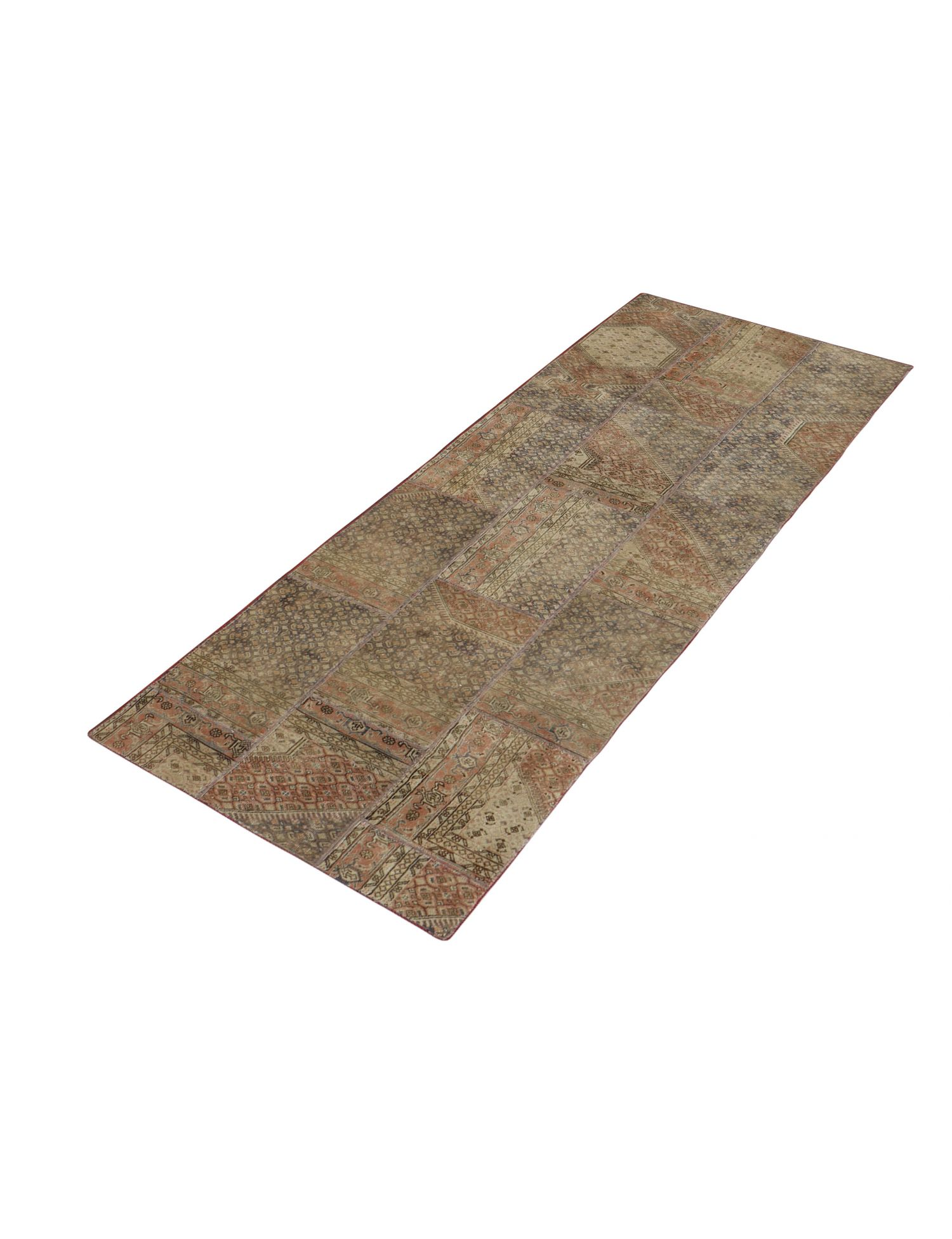Patchwork tæppe  beige <br/>356 x 107 cm