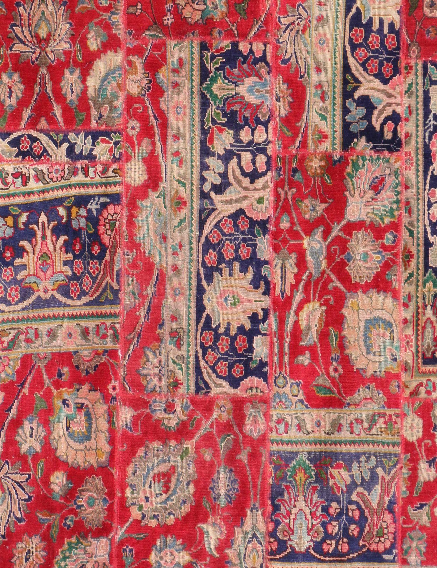 Persischer patchwork Teppich  rot <br/>236 x 170 cm