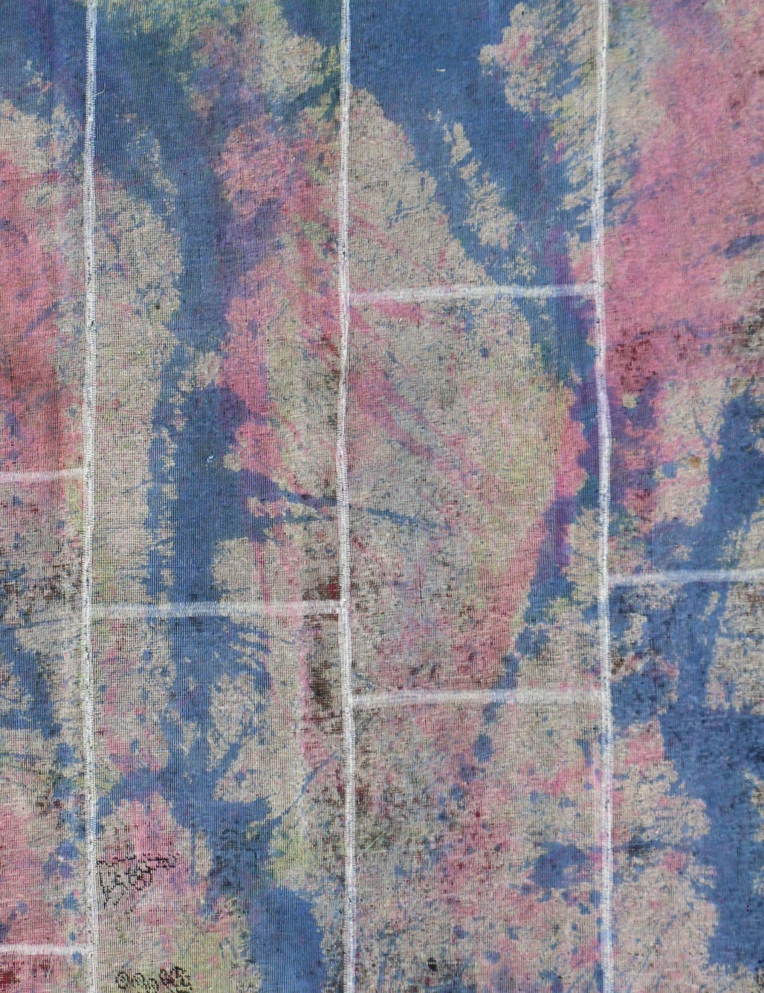 Tappeto Patchwork  blu <br/>270 x 178 cm