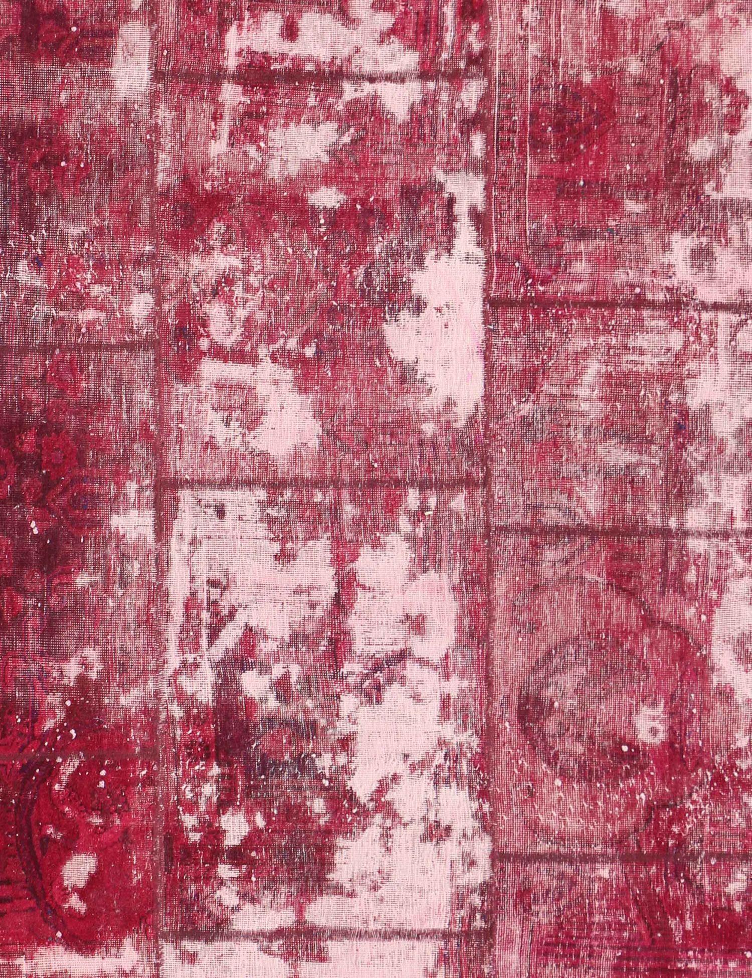 Persisk patchwork tæppe  rød <br/>279 x 172 cm