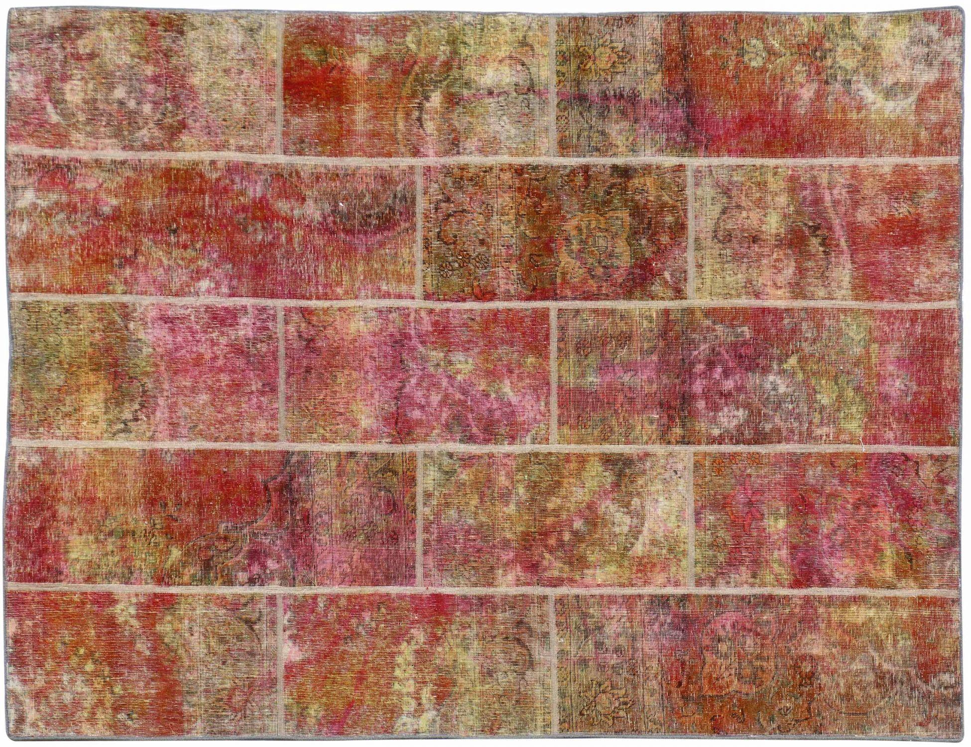 Patchwork Teppich  mehrfarbig <br/>247 x 173 cm