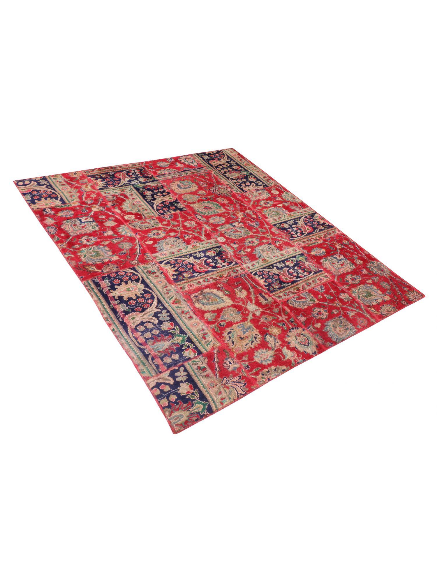 Patchwork Carpet  red  <br/>270 x 177 cm