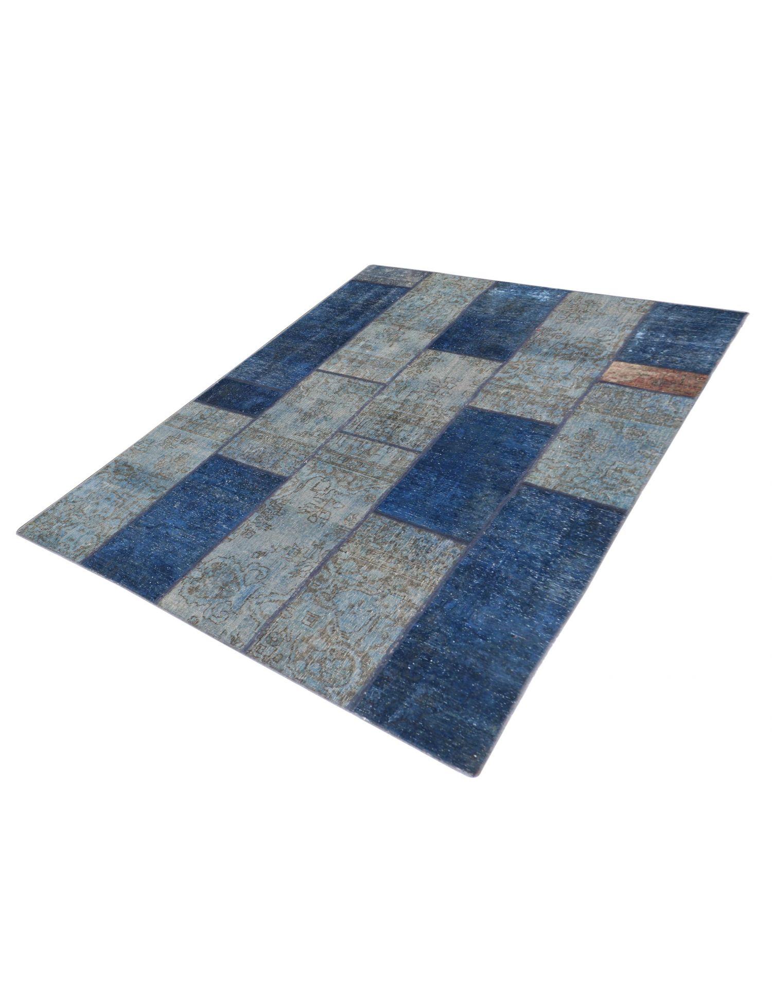 Persischer patchwork Teppich  blau <br/>248 x 176 cm