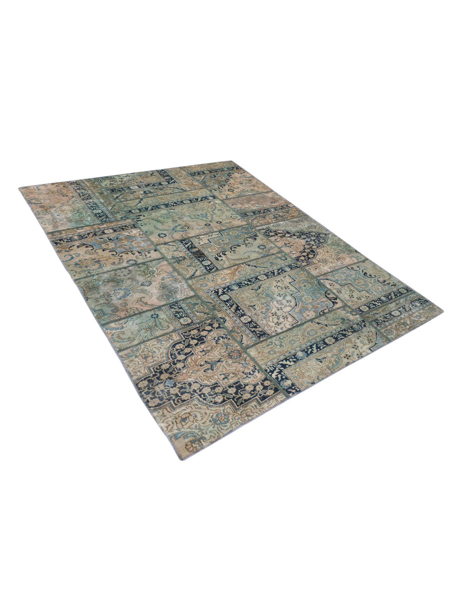 Persian Patchwork Carpet  green  <br/>275 x 170 cm