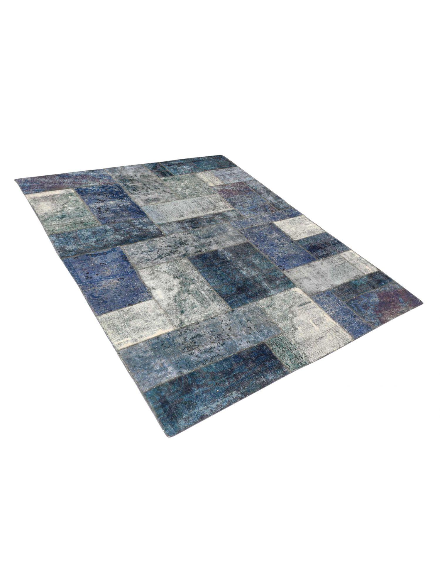 Patchwork Teppich  blau <br/>312 x 192 cm