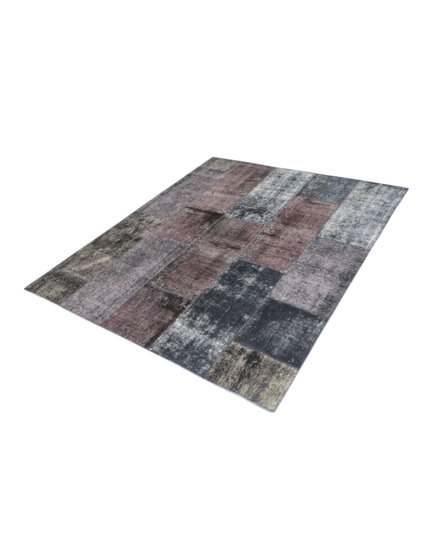 Patchwork Teppich  schwarz <br/>200 x 200 cm