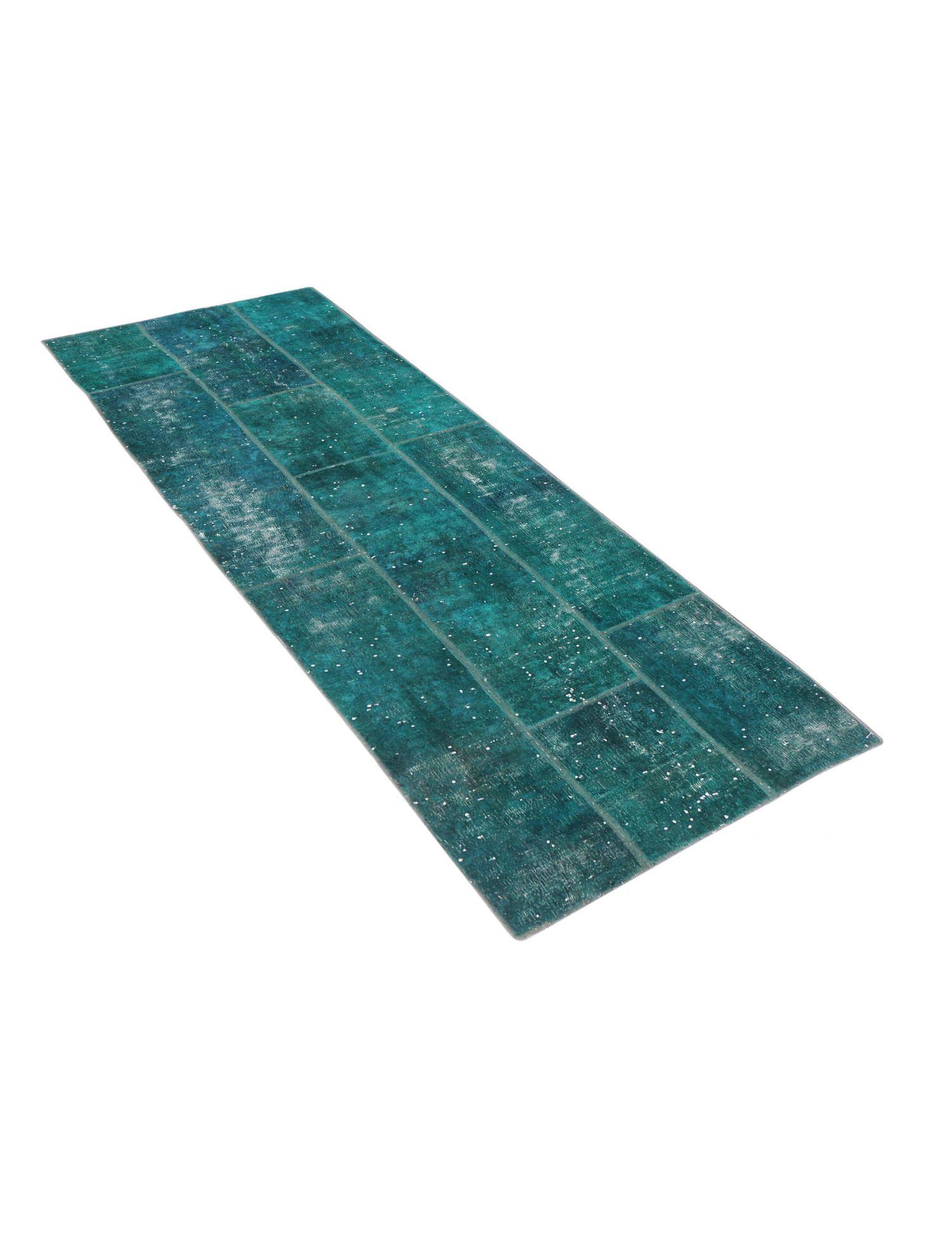 Persian Patchwork Carpet  turkoise  <br/>333 x 104 cm