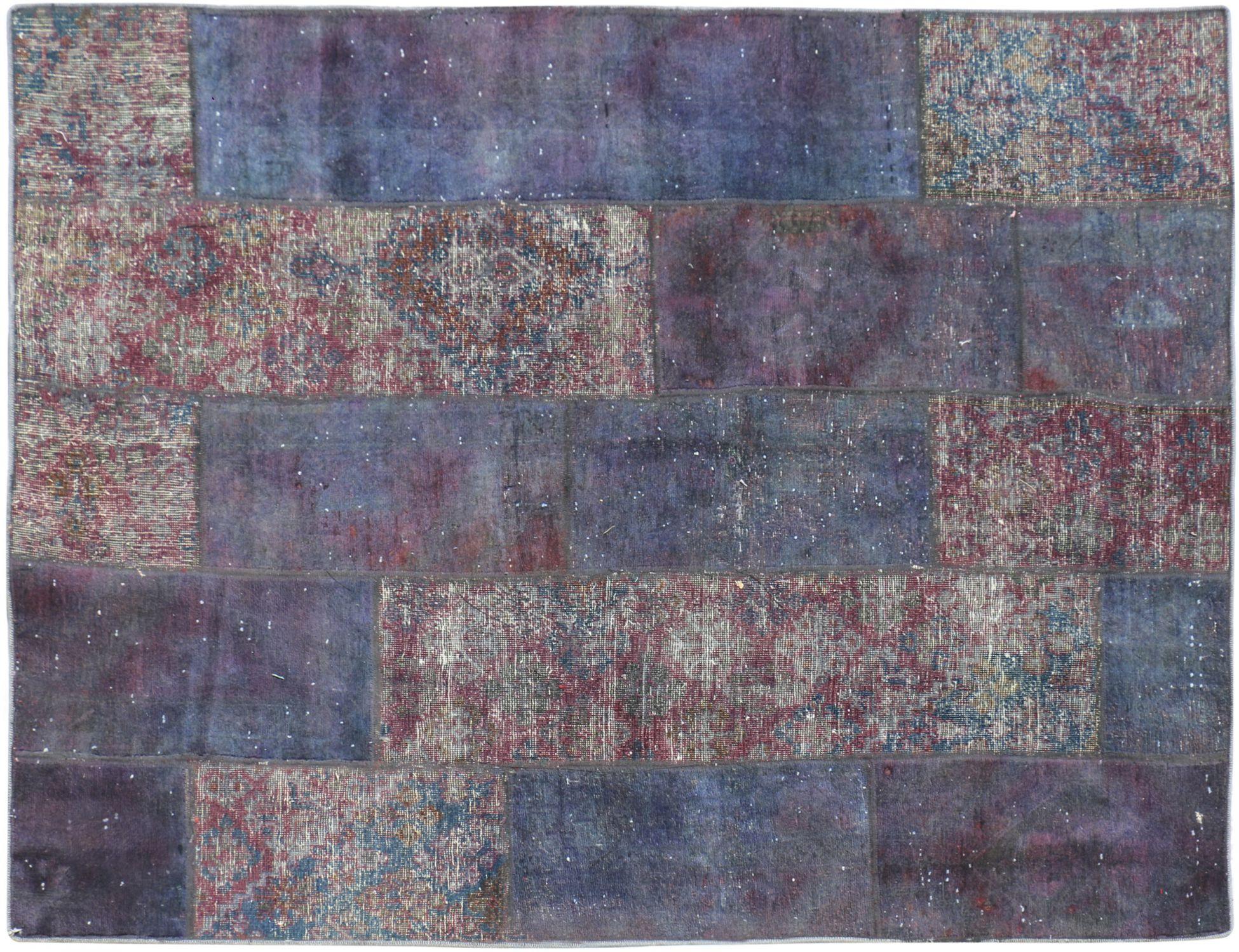 Patchwork Teppich  lila <br/>203 x 148 cm