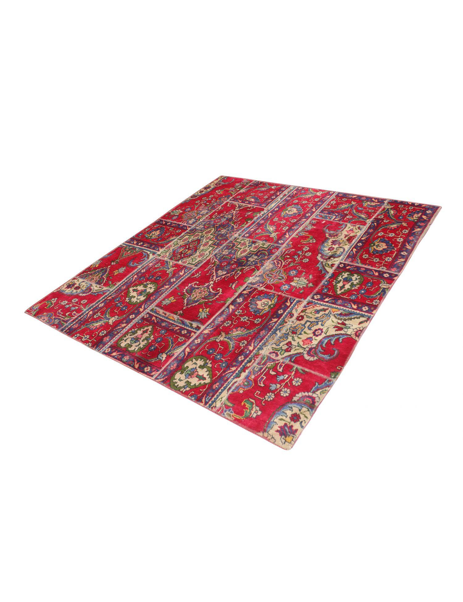 Patchwork Teppich  mehrfarbig <br/>200 x 200 cm