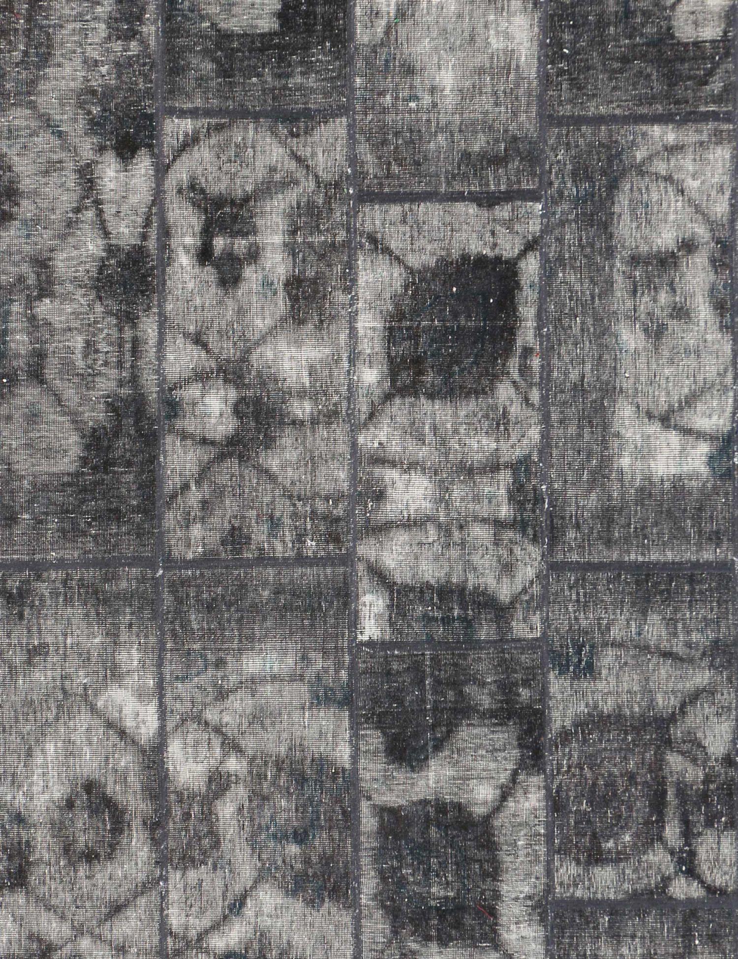 Persisk patchwork tæppe  sort <br/>268 x 176 cm