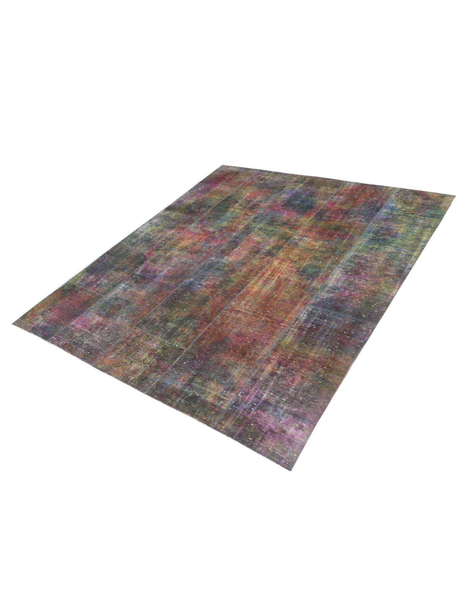 Patchwork tæppe  brun <br/>315 x 249 cm