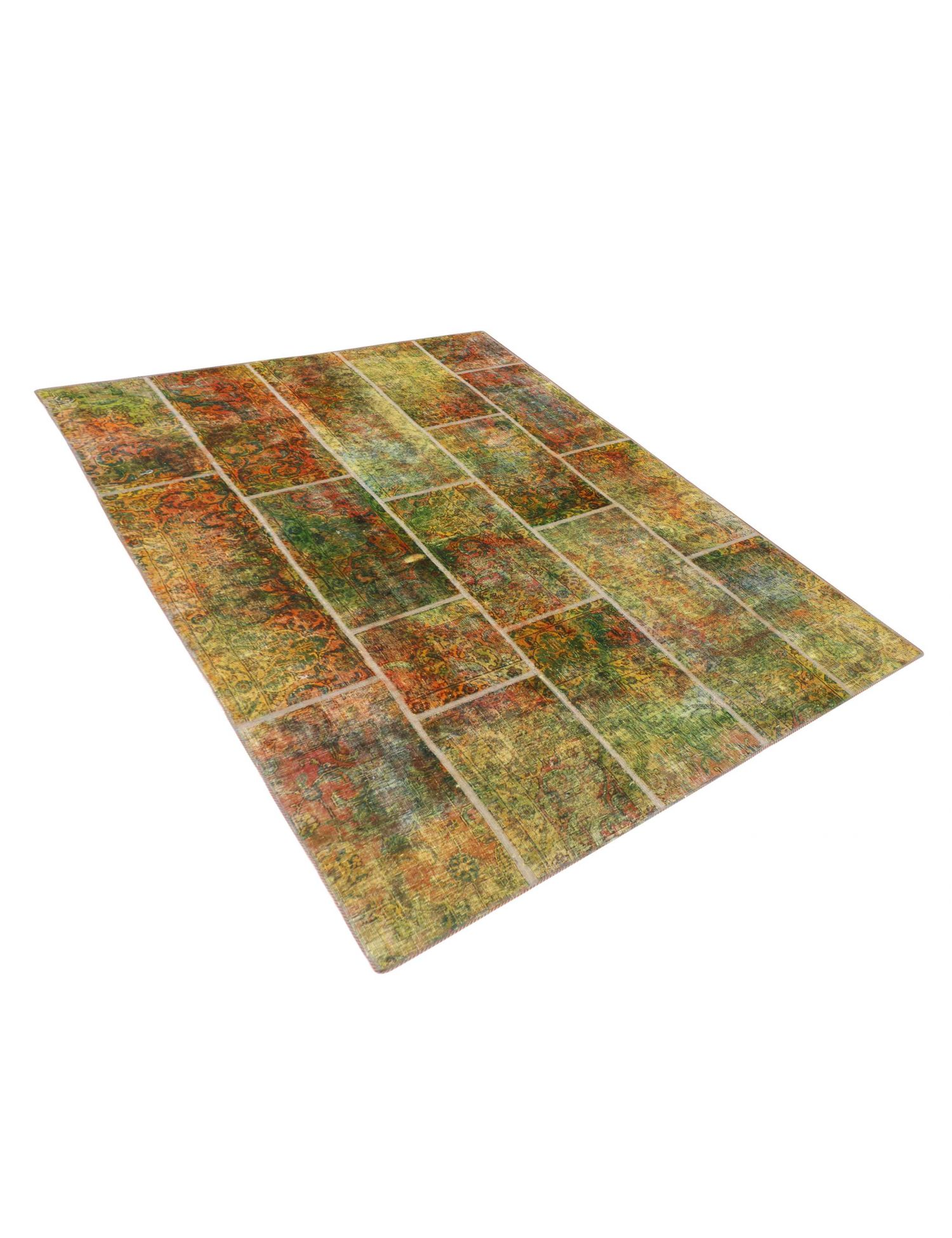 Tappeto Patchwork  giallo <br/>246 x 175 cm
