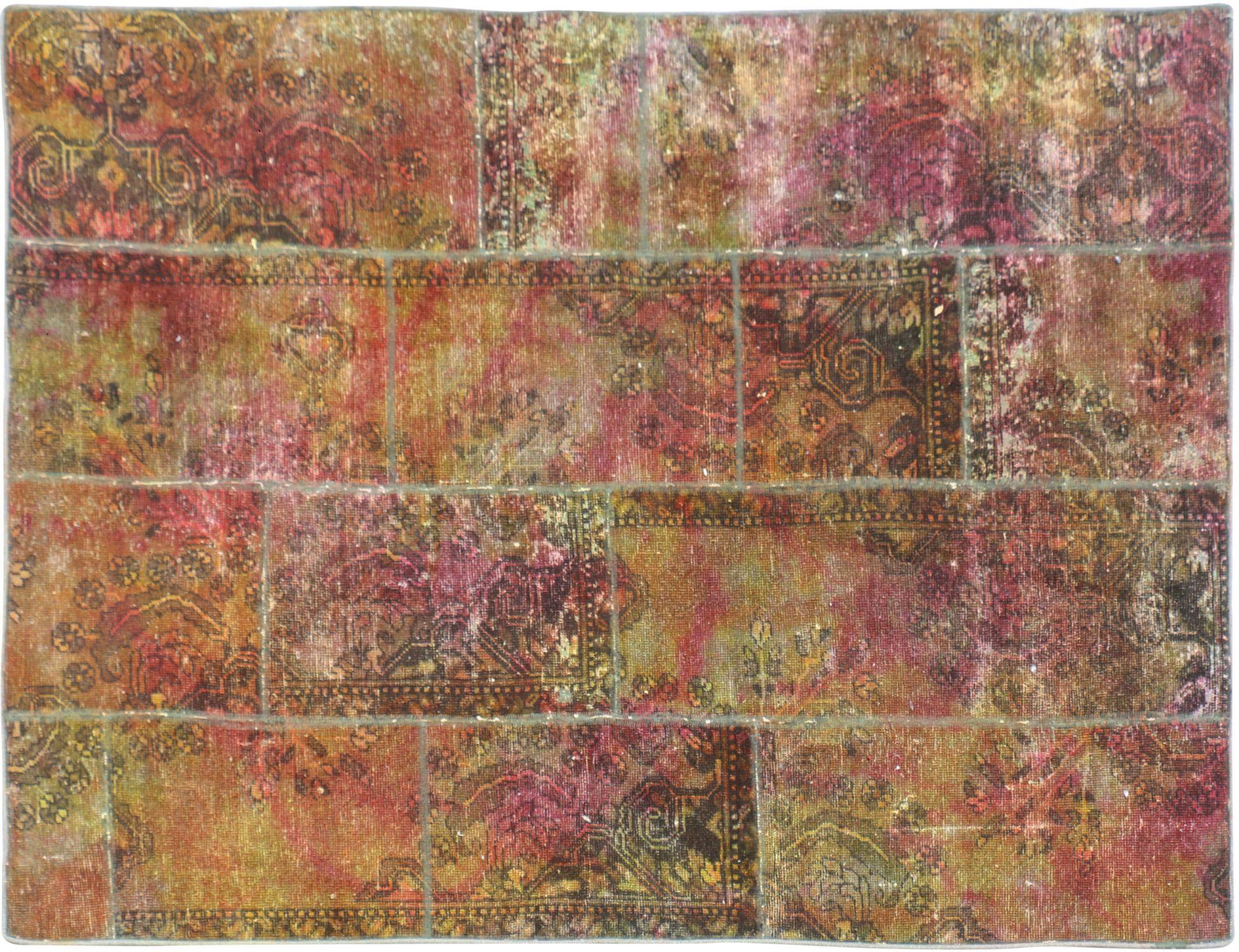 Patchwork Tapijt  bruin <br/>226 x 157 cm