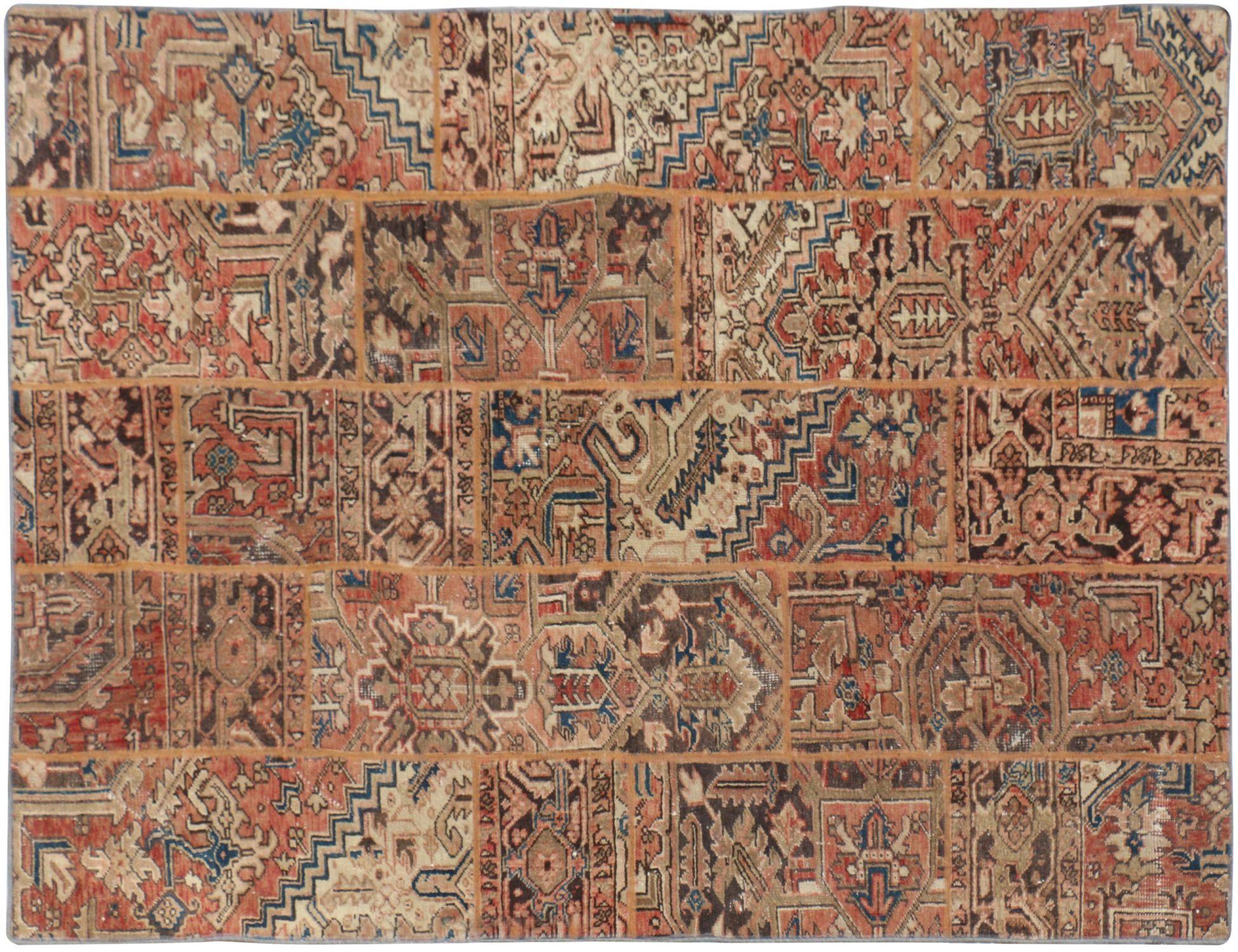 Patchwork Tapijt  bruin <br/>270 x 176 cm