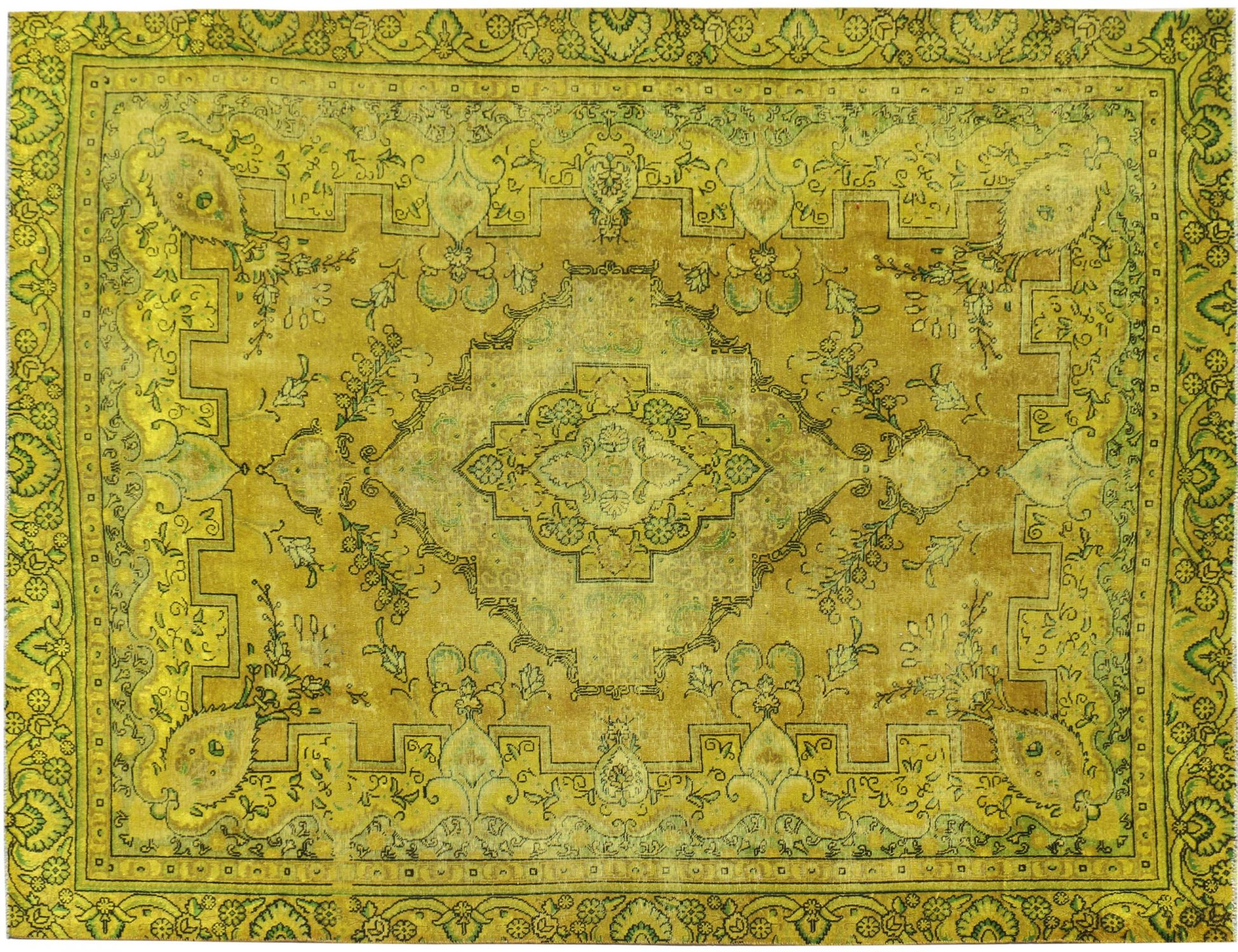 Vintagetæppe  gul <br/>366 x 263 cm