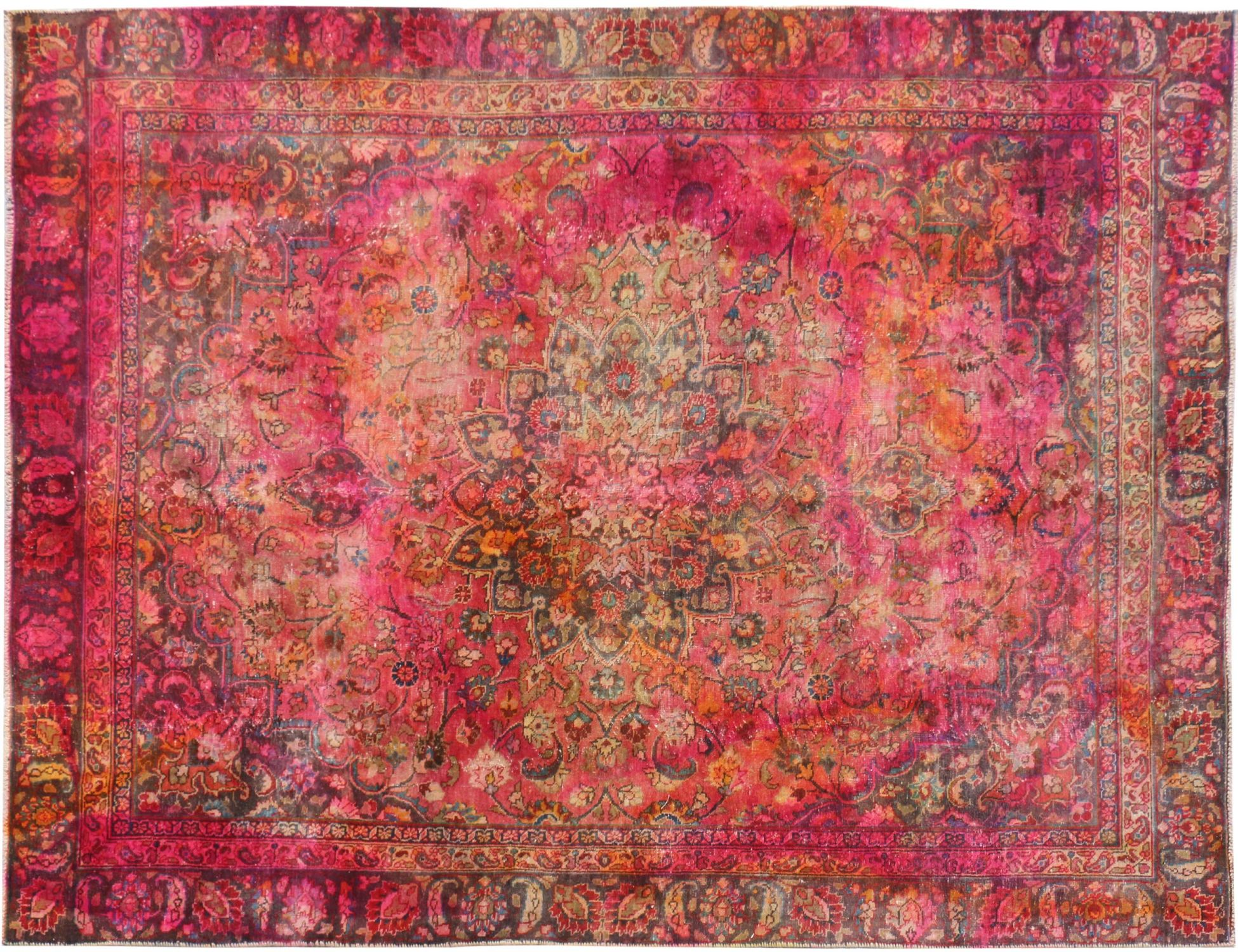 Vintage Teppich  mehrfarbig <br/>314 x 222 cm
