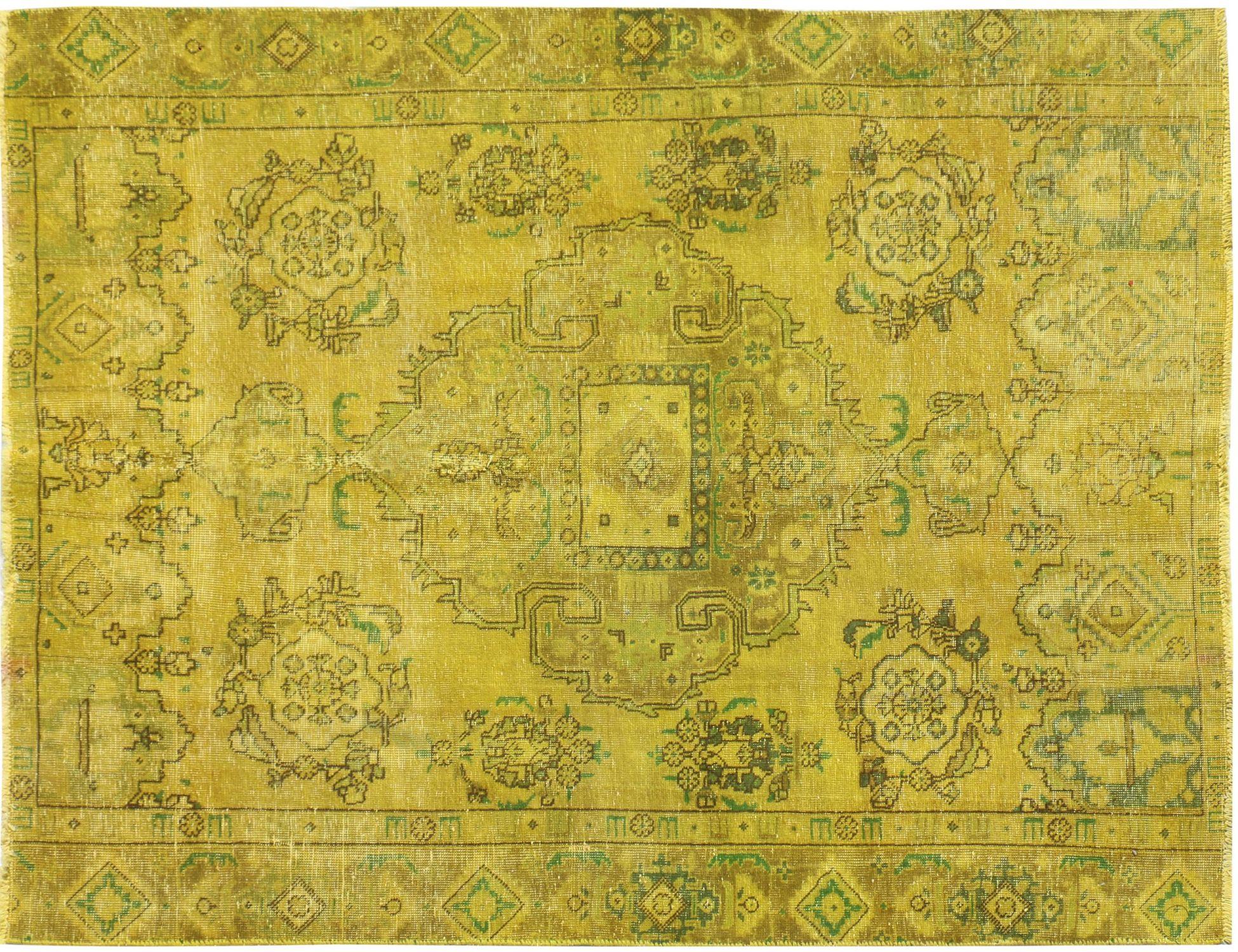 Vintage Tapijt  geel <br/>236 x 173 cm