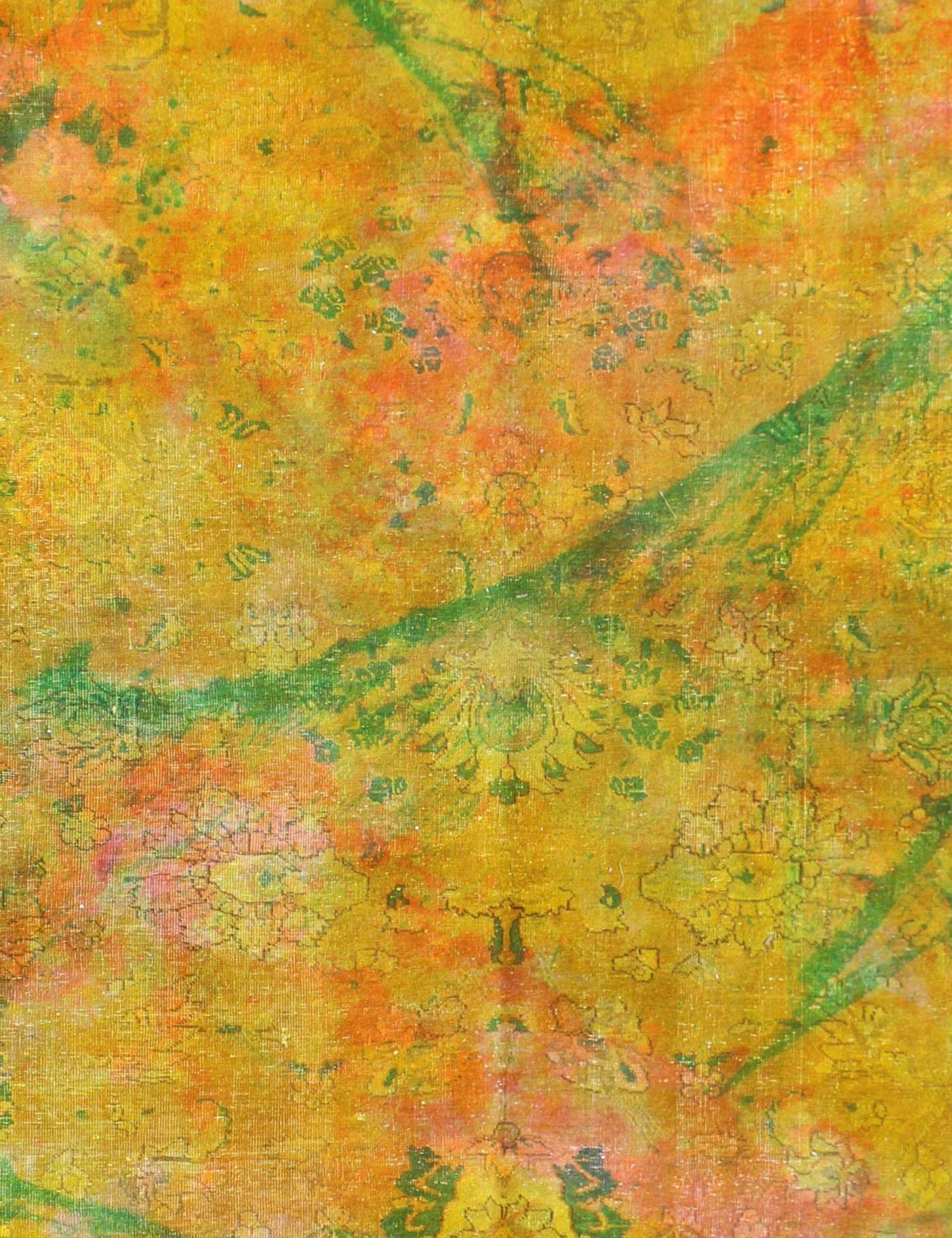 Persischer Vintage Teppich  gelb <br/>276 x 172 cm