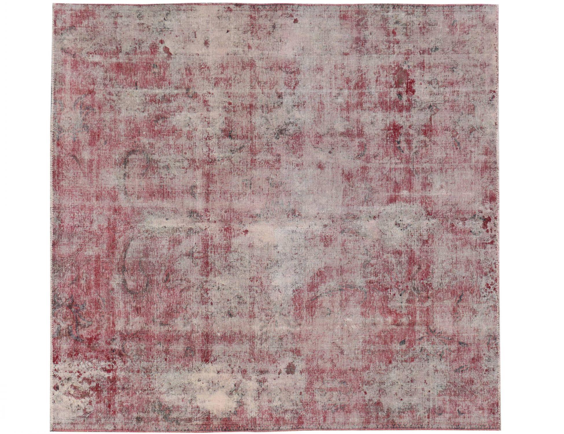 Persischer Vintage Teppich  rot <br/>230 x 202 cm