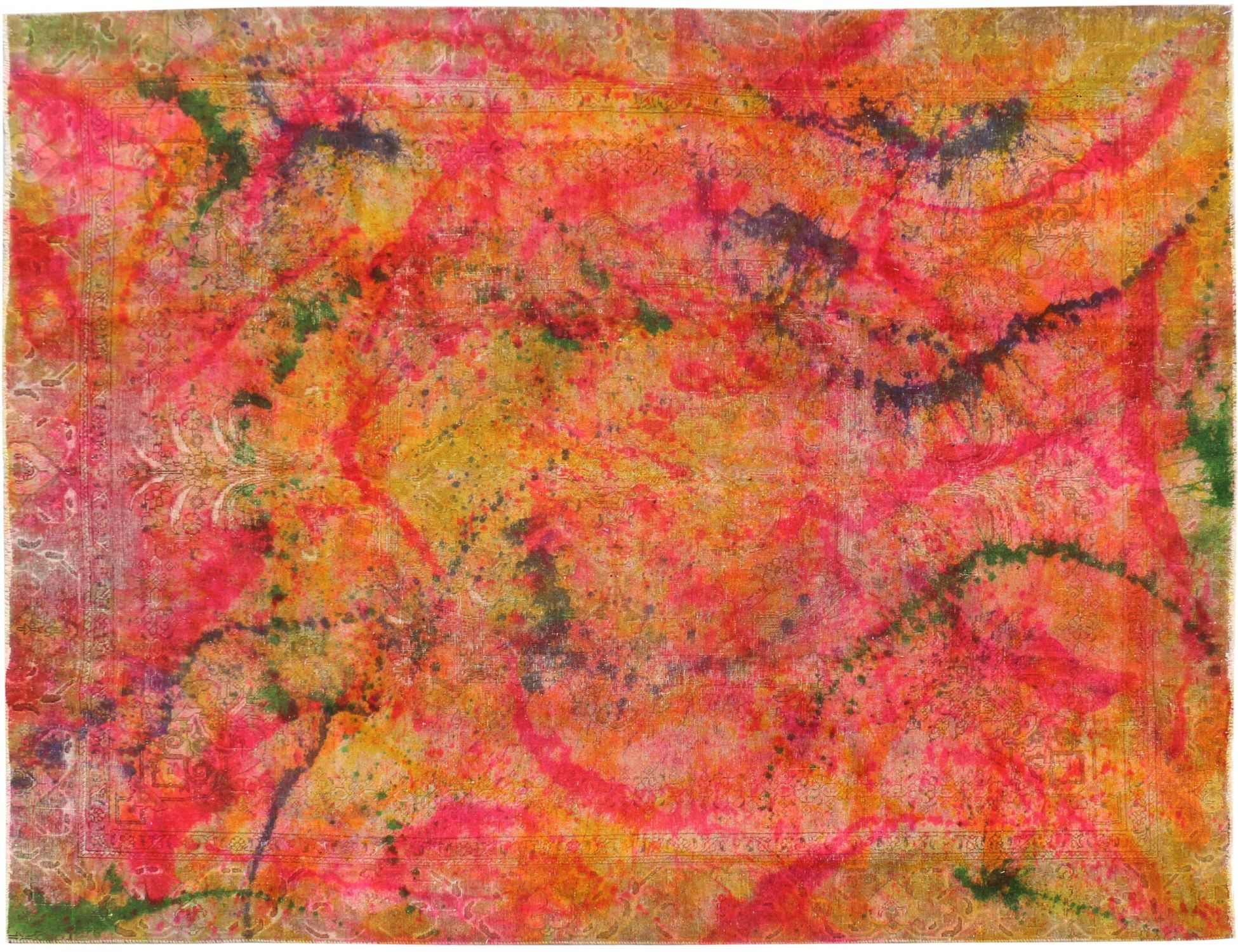 Vintage Tapijt  multi kleur <br/>355 x 275 cm