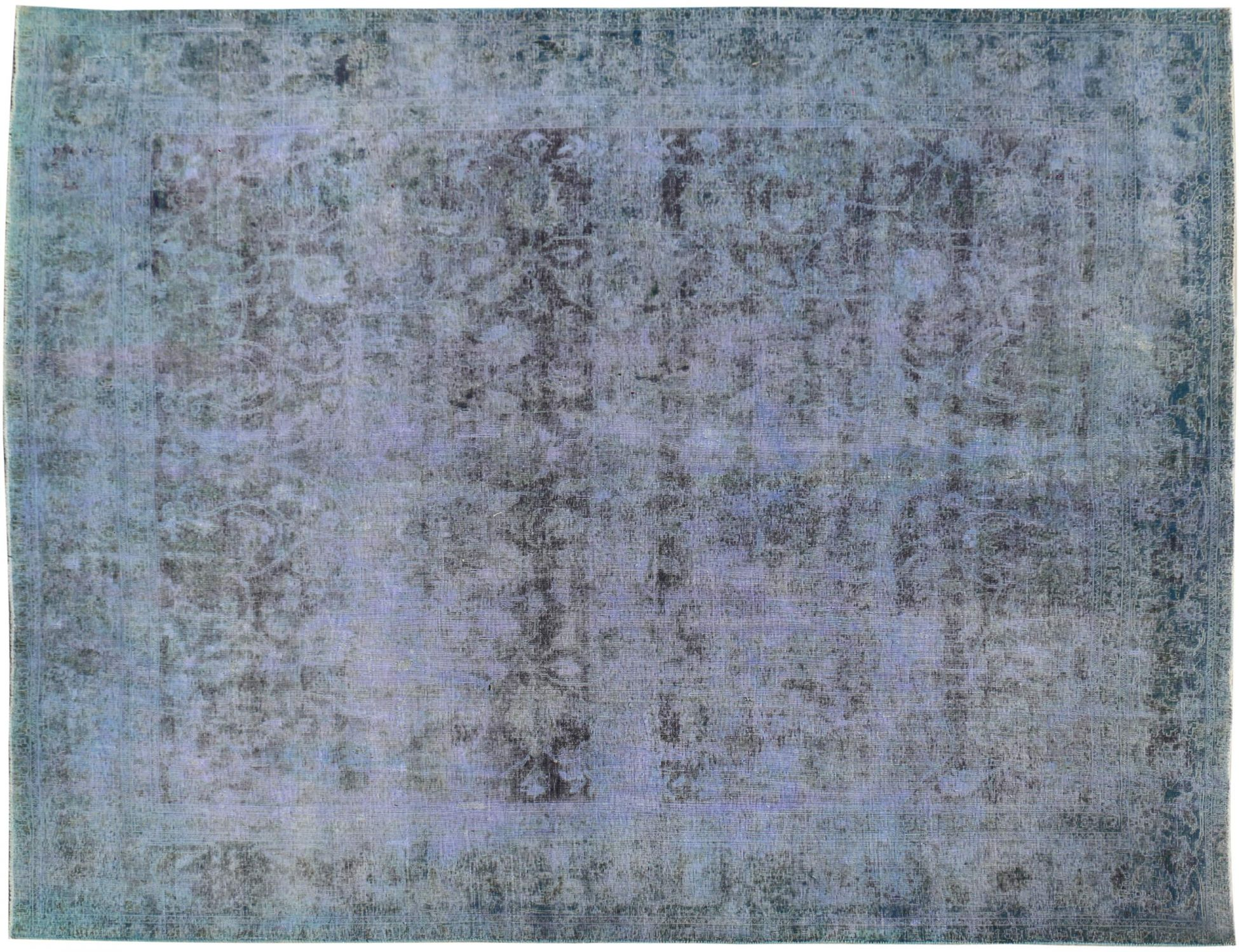 Vintage Tapijt  blauw <br/>340 x 278 cm