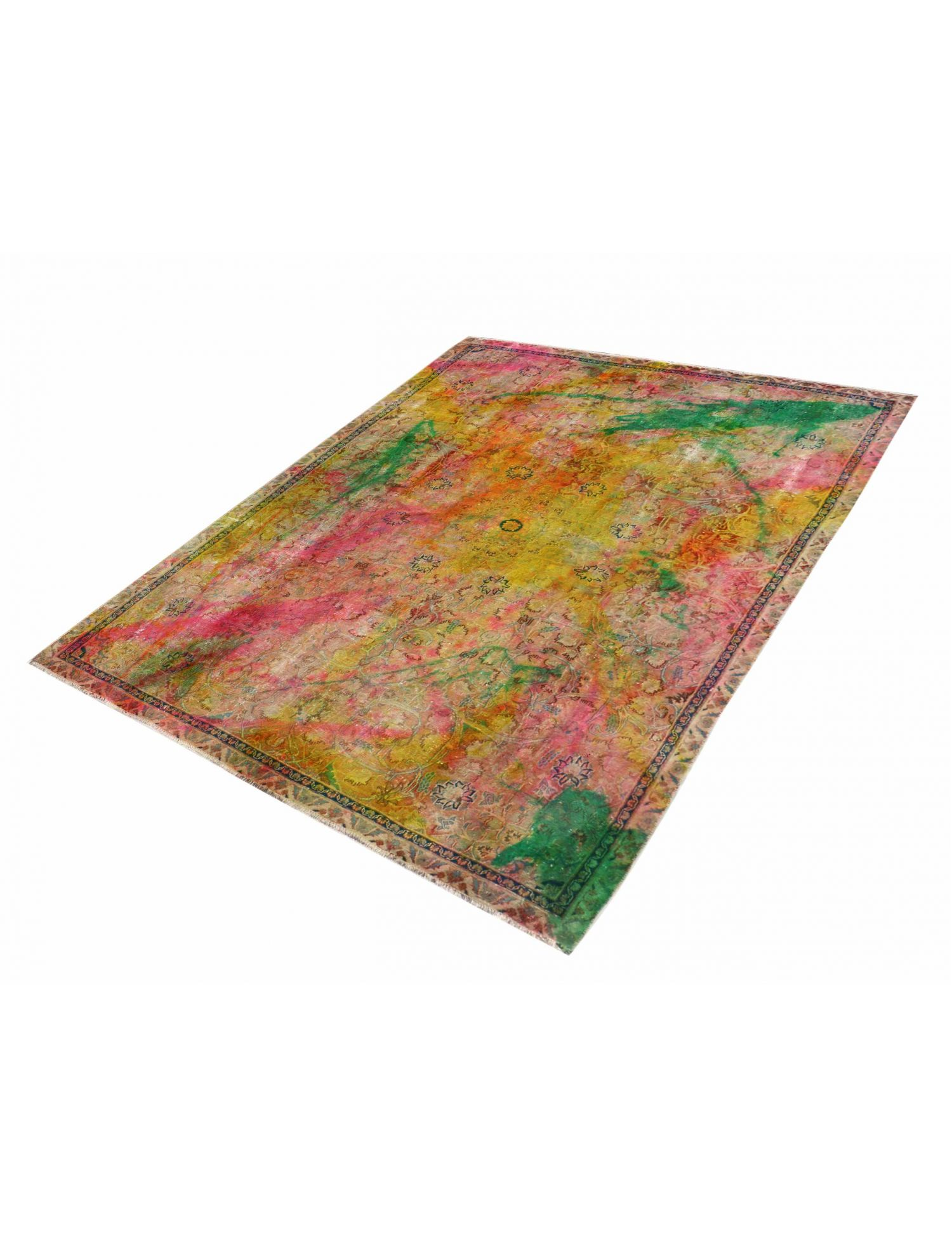 Perzisch Vintage Tapijt  groen <br/>301 x 219 cm