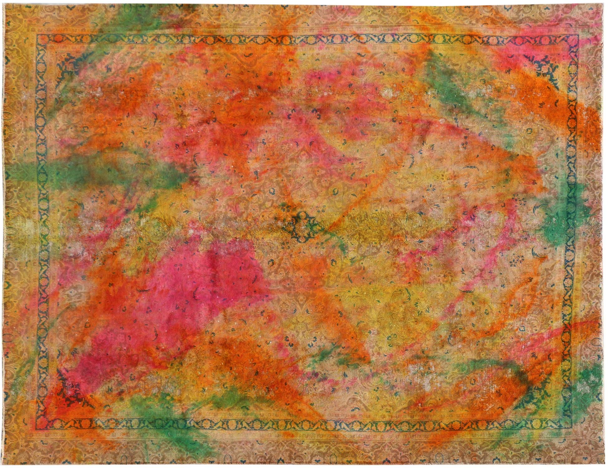Vintagetæppe  gul <br/>322 x 230 cm