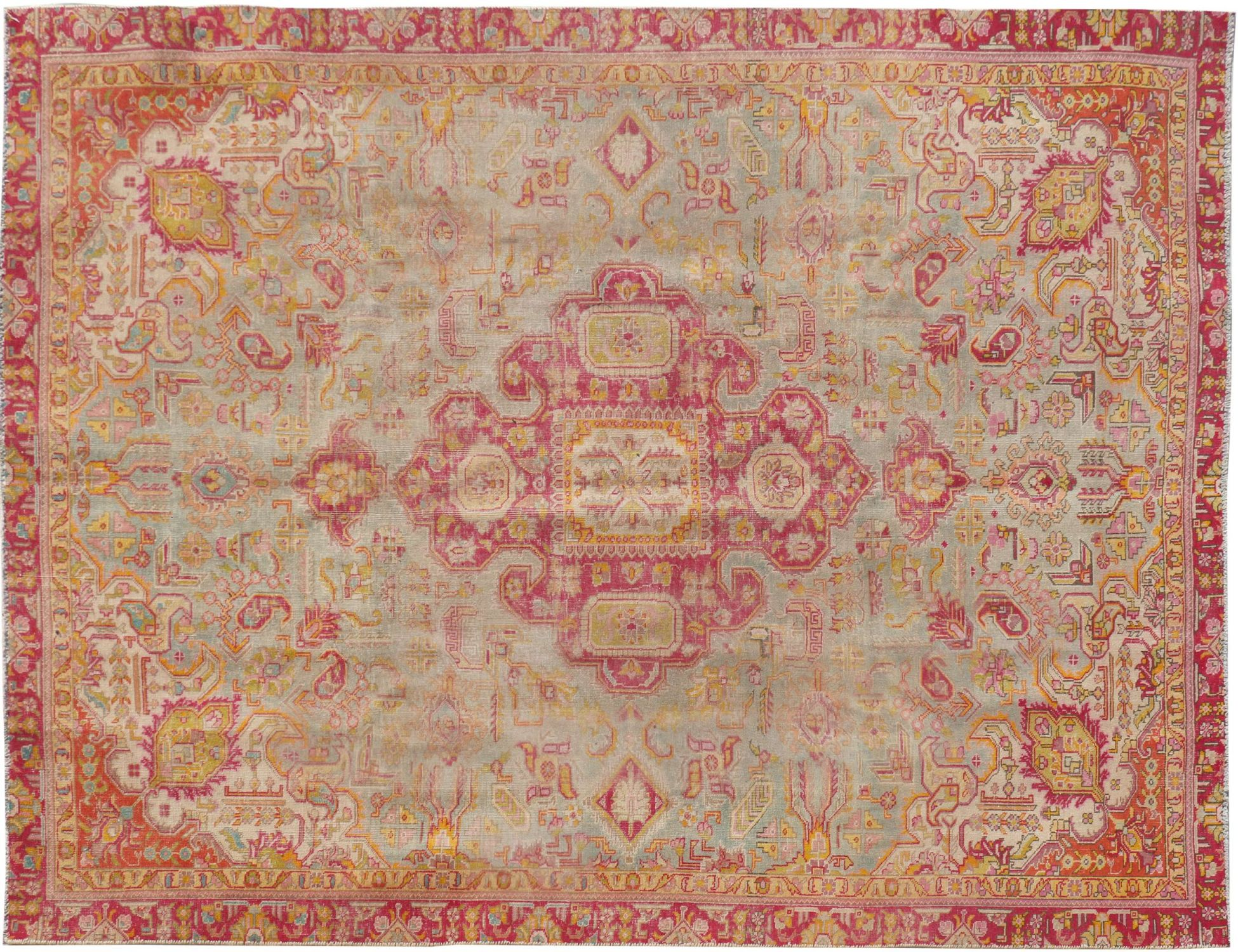 Persisk Vintagetæppe  grøn <br/>348 x 258 cm