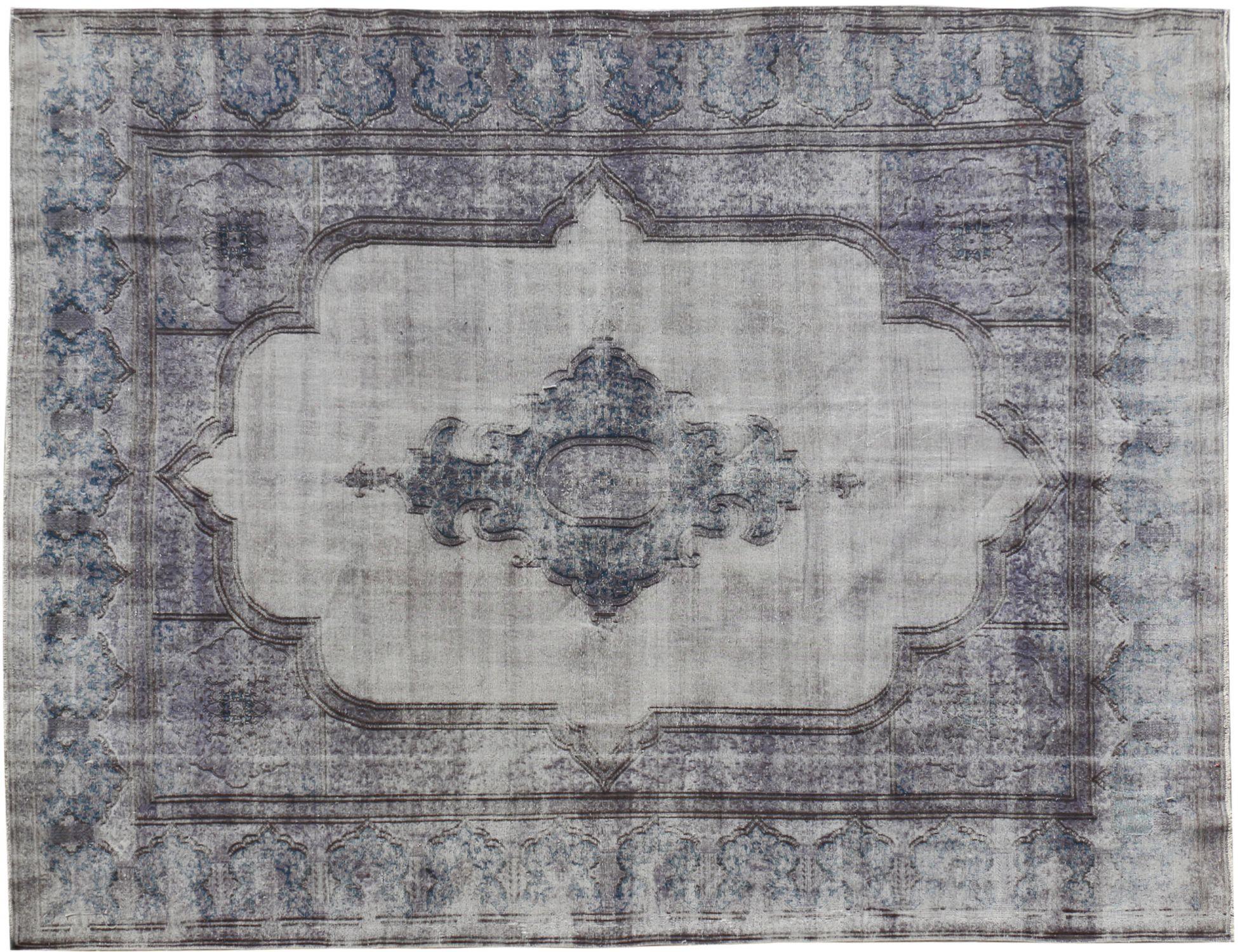 Vintagetæppe  blå <br/>451 x 326 cm