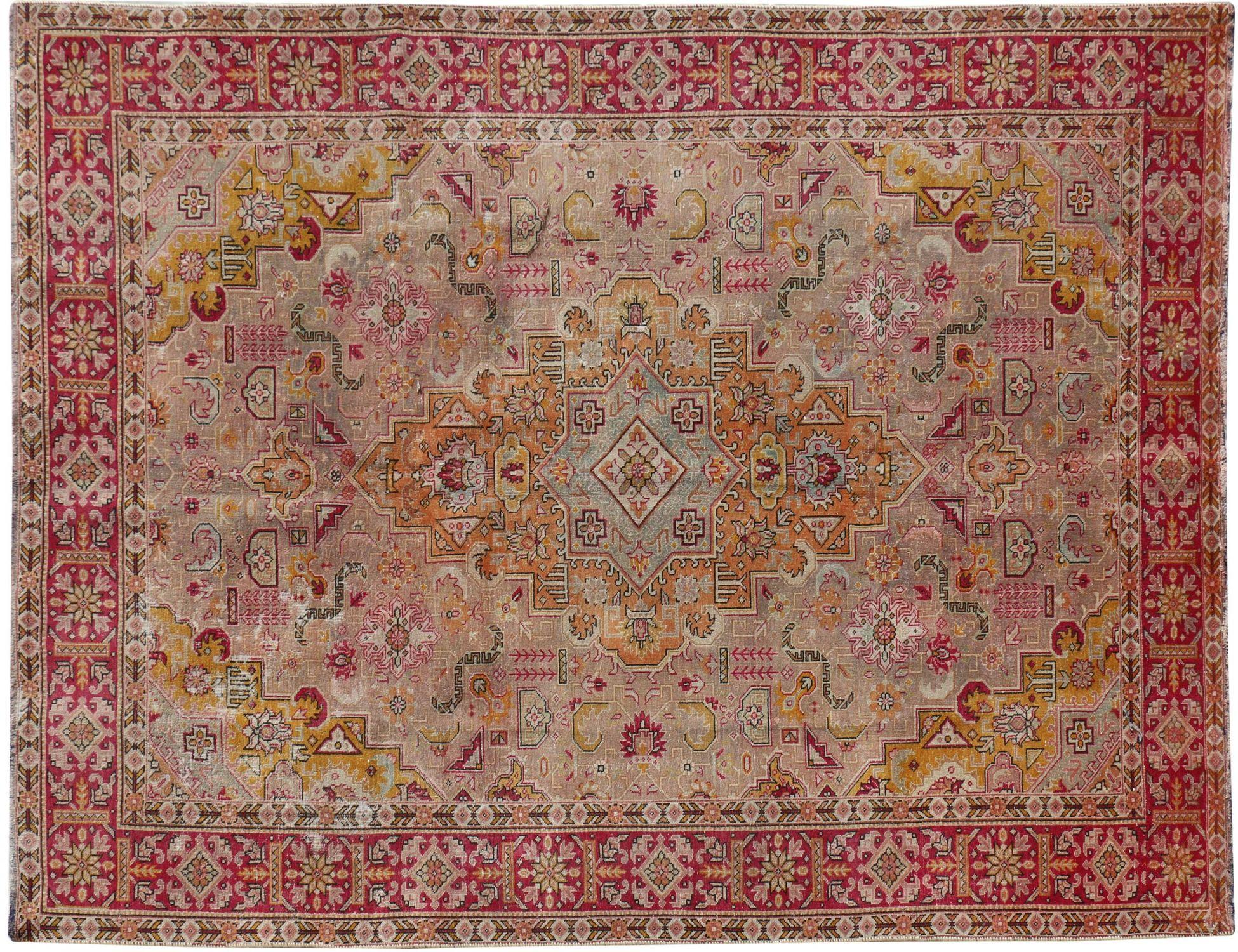 Perzisch Vintage Tapijt  beige <br/>309 x 297 cm