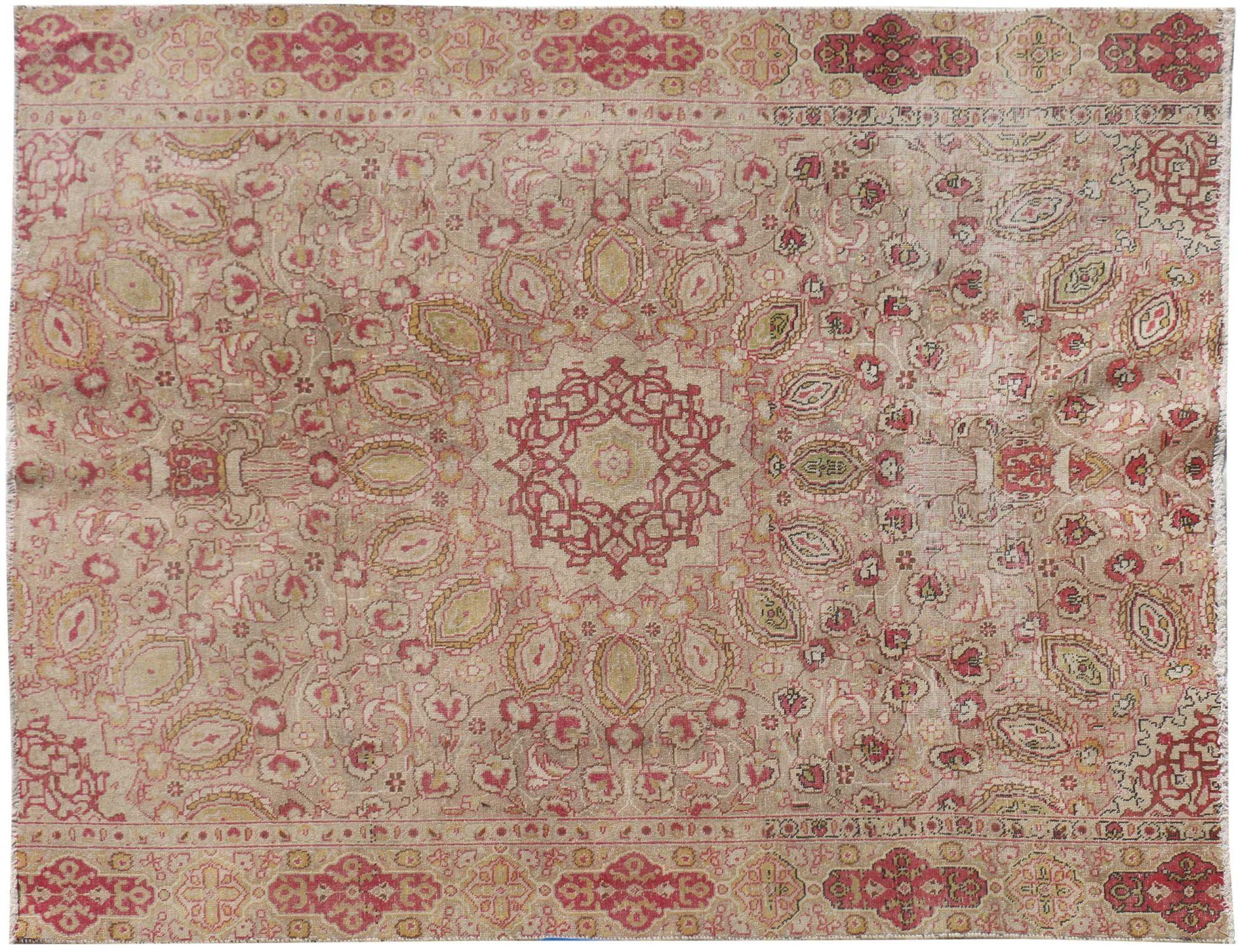 Perzisch Vintage Tapijt  beige <br/>238 x 193 cm