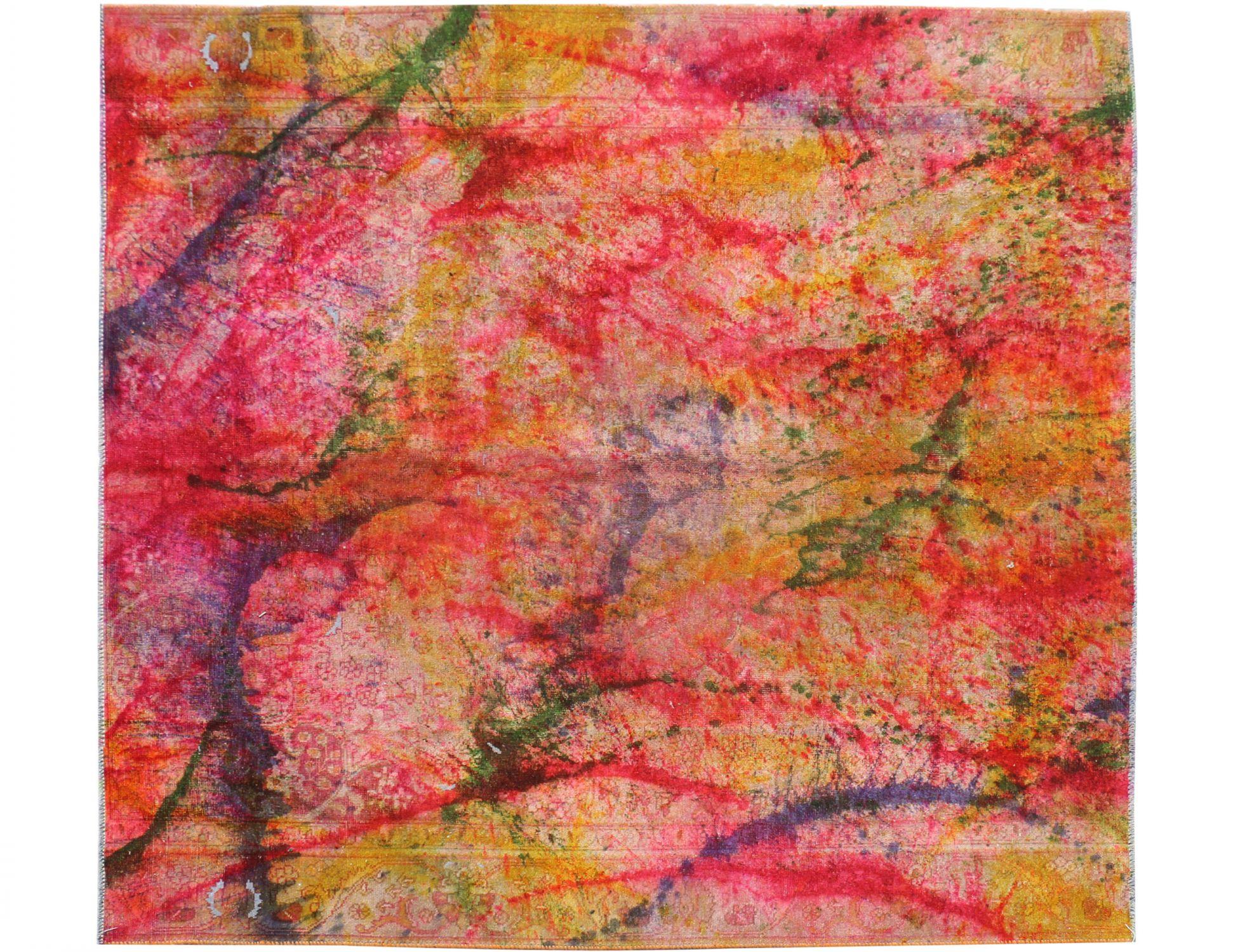 Perzisch Vintage Tapijt  multi kleur <br/>200 x 200 cm