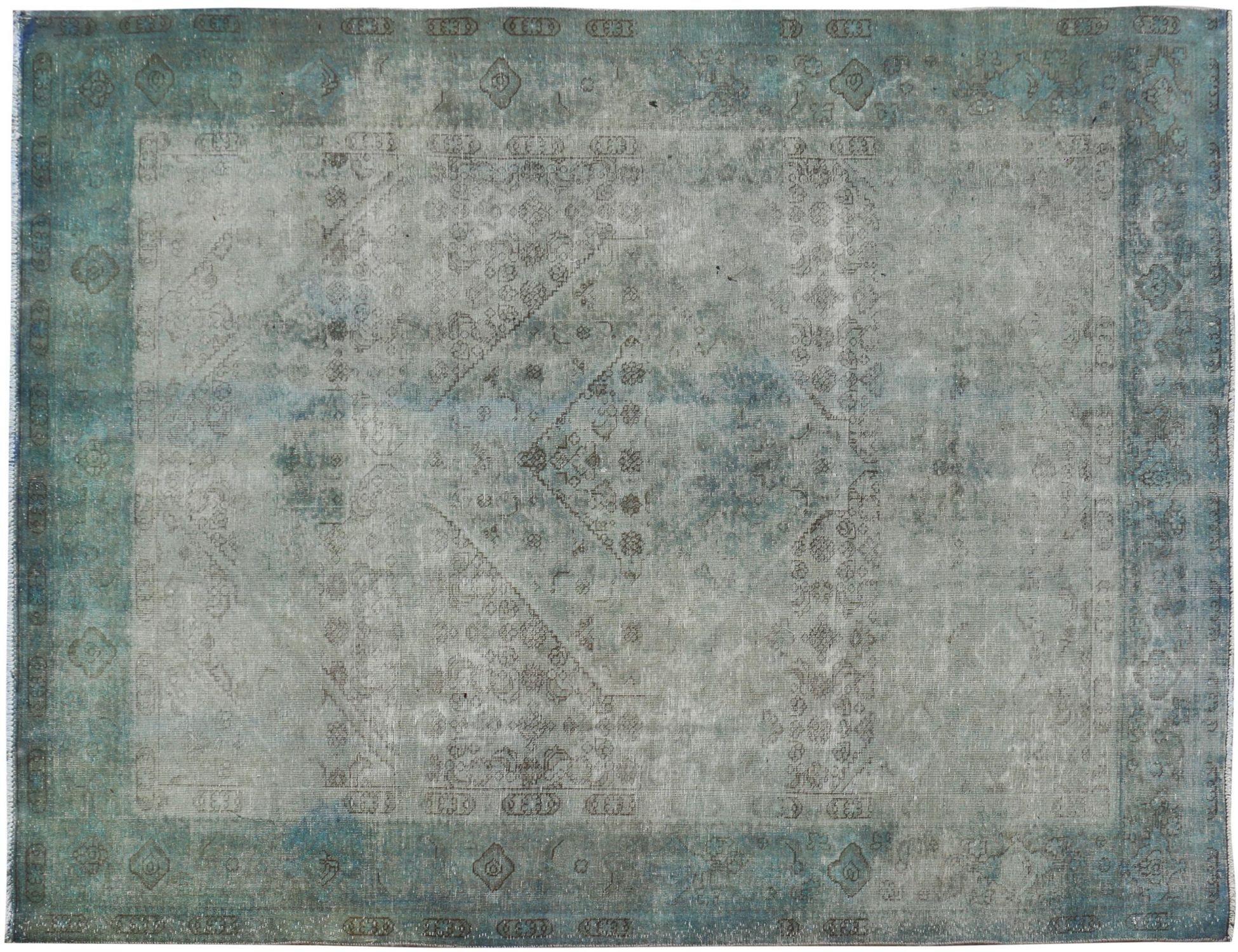 Persischer Vintage Teppich  grün <br/>345 x 255 cm
