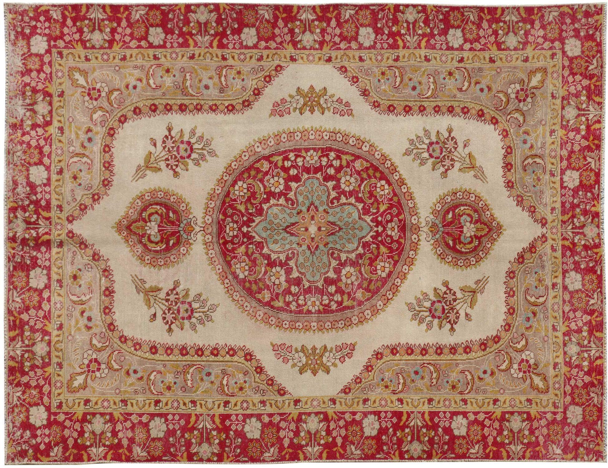 Perzisch Vintage Tapijt  beige <br/>290 x 193 cm