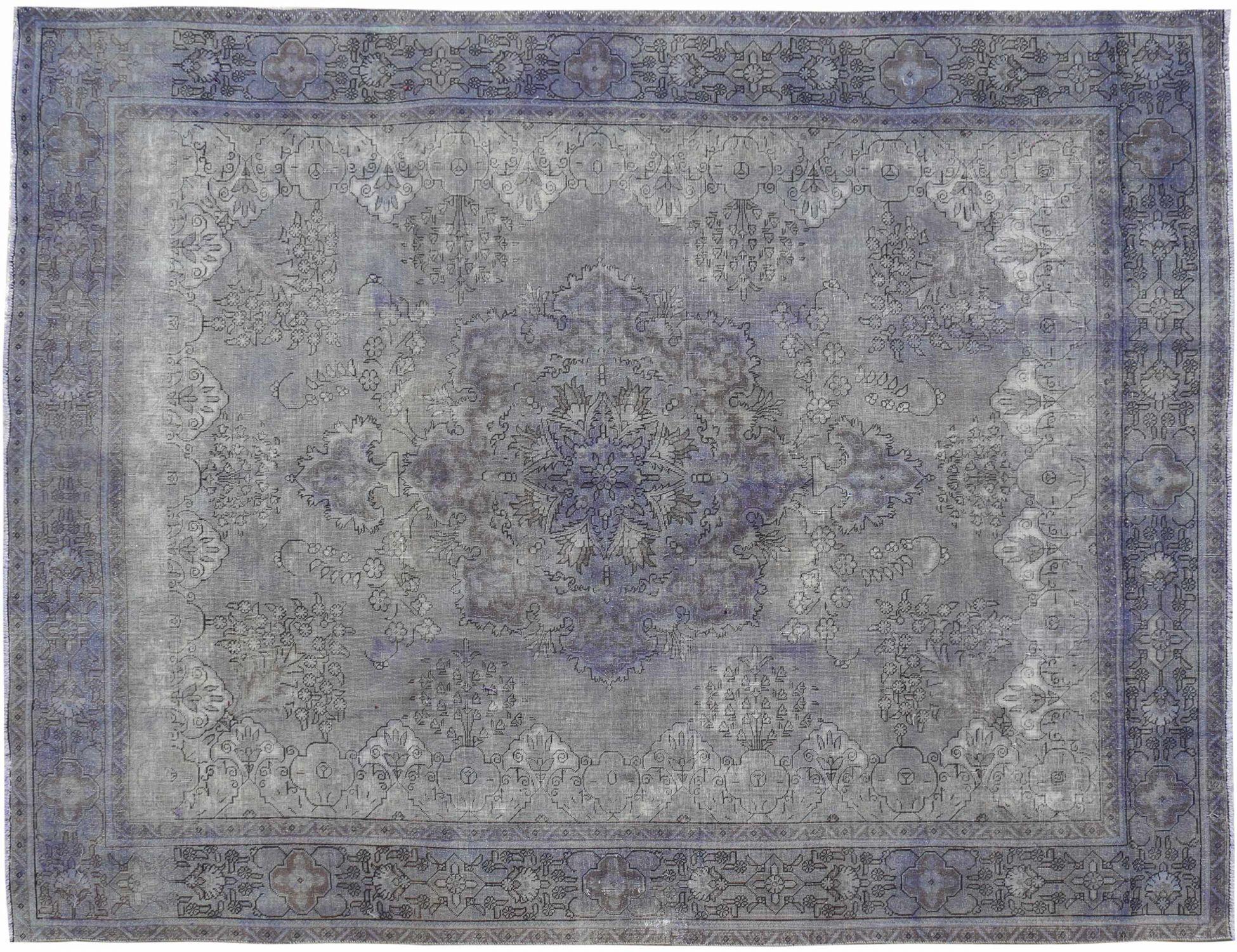Vintagetæppe  blå <br/>380 x 290 cm