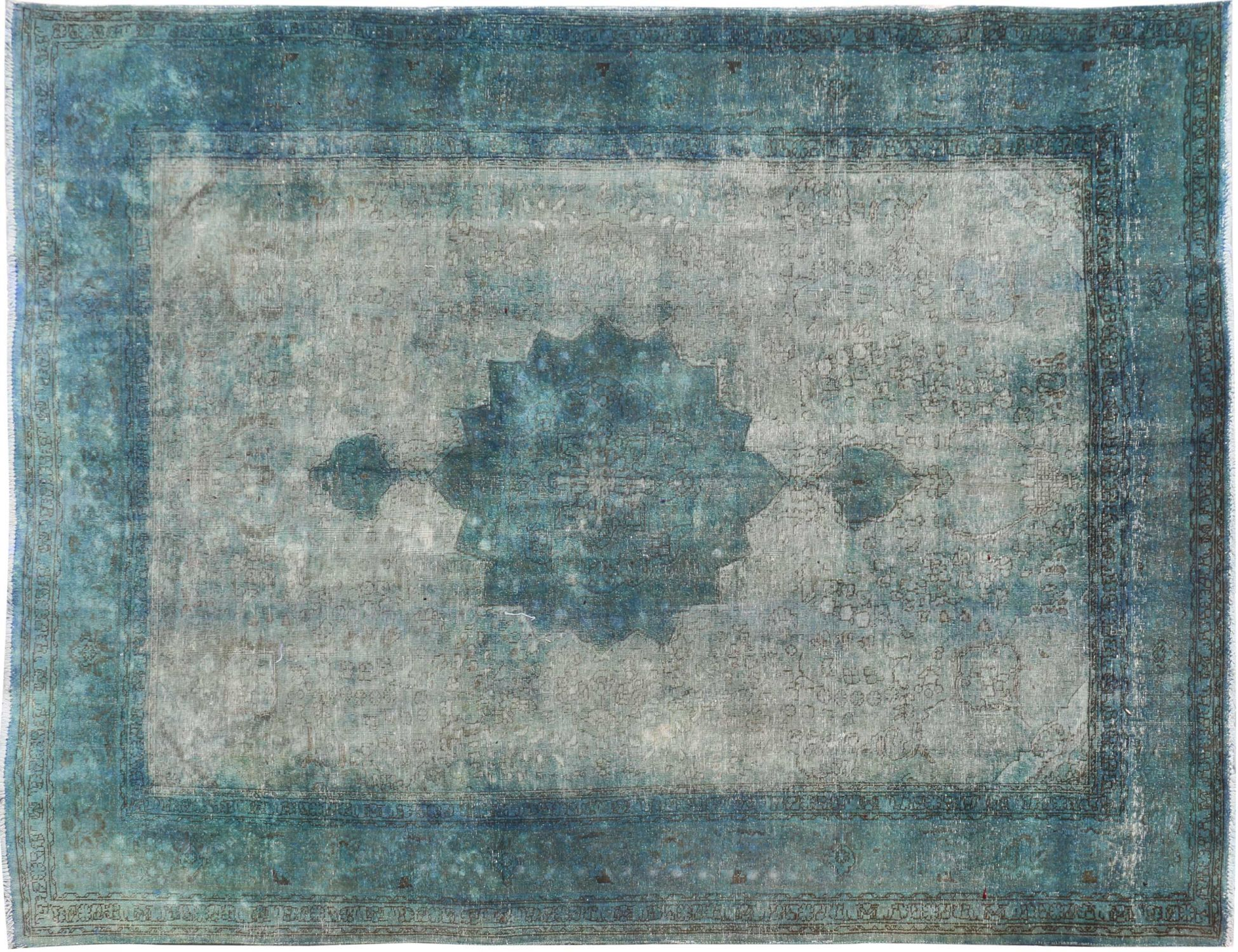 Vintage Teppich  türkis <br/>347 x 242 cm