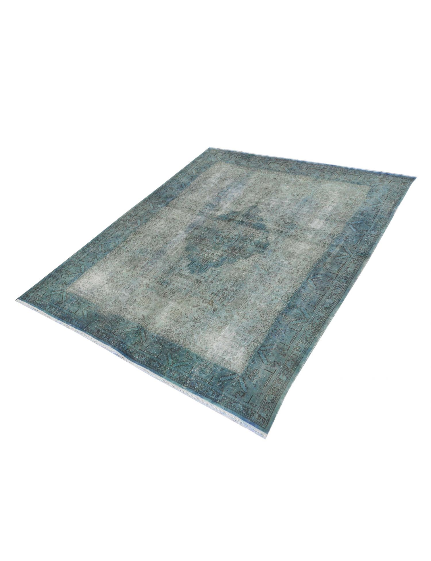 Vintagetæppe  blå <br/>330 x 251 cm