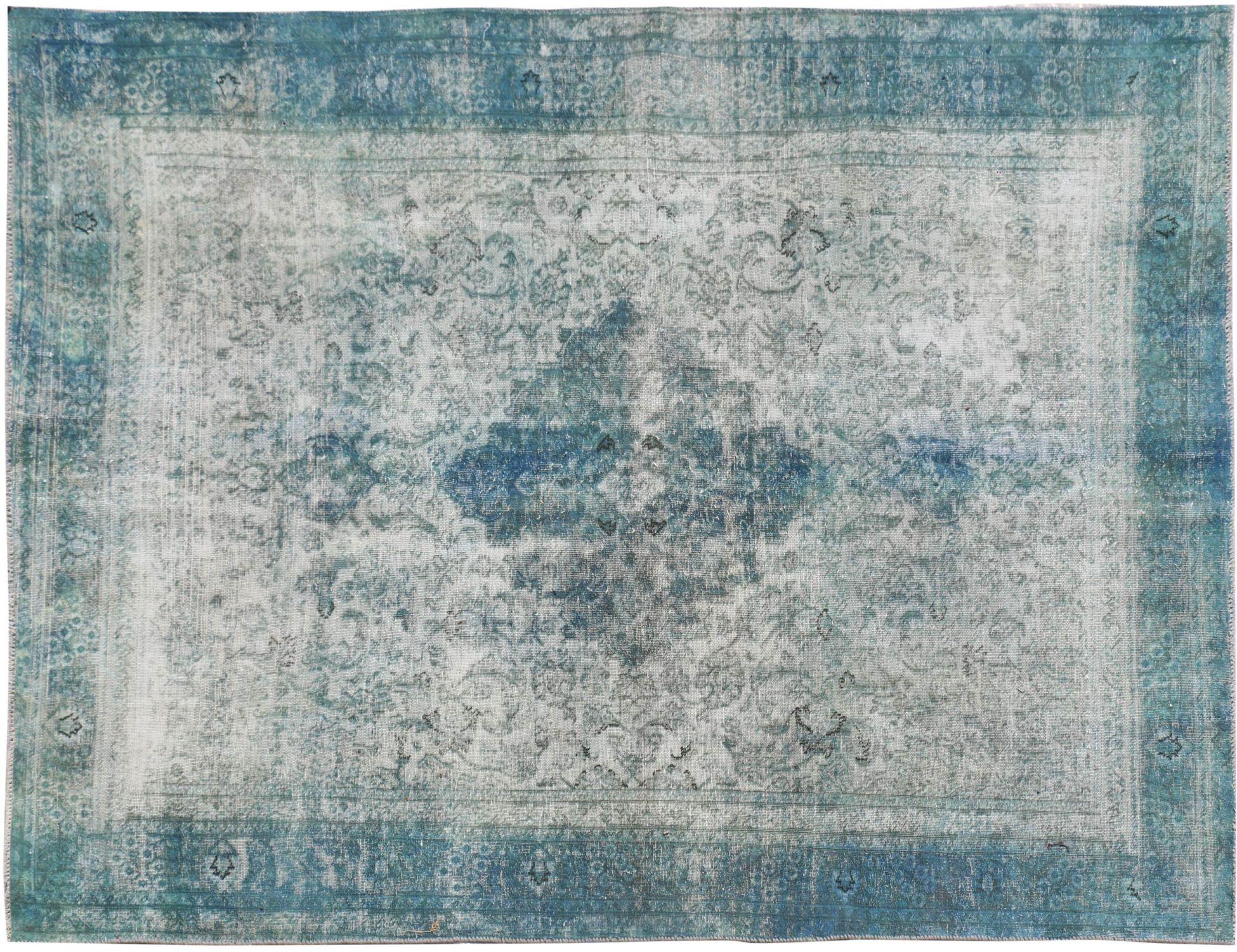 Vintagetæppe  blå <br/>279 x 187 cm