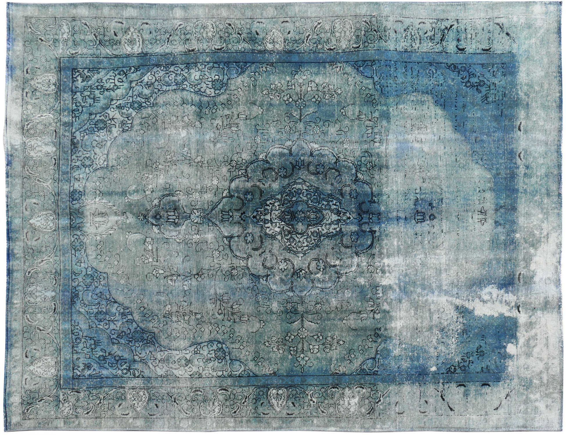 Persischer Vintage Teppich  blau <br/>376 x 276 cm