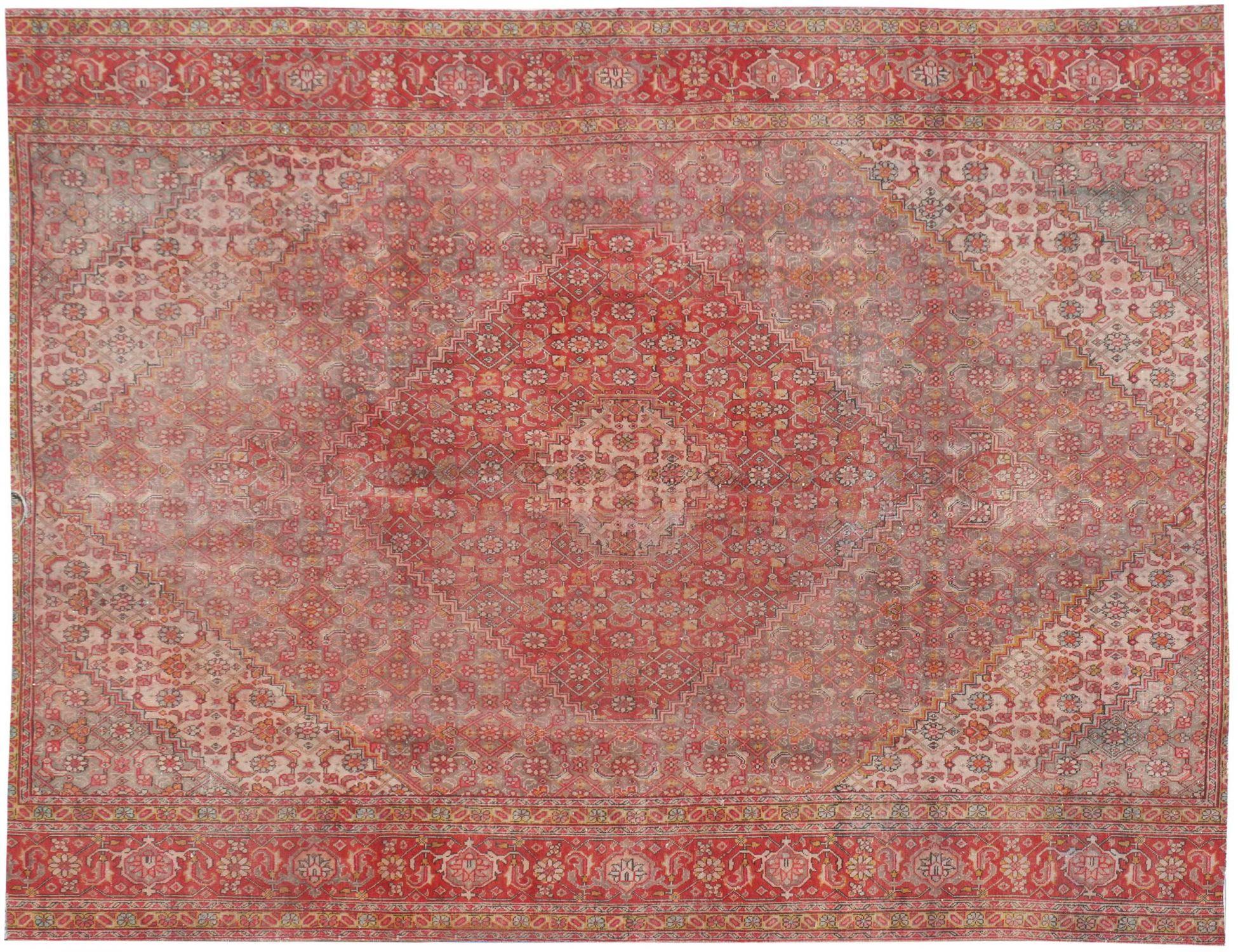 Perzisch Vintage Tapijt  beige <br/>270 x 245 cm