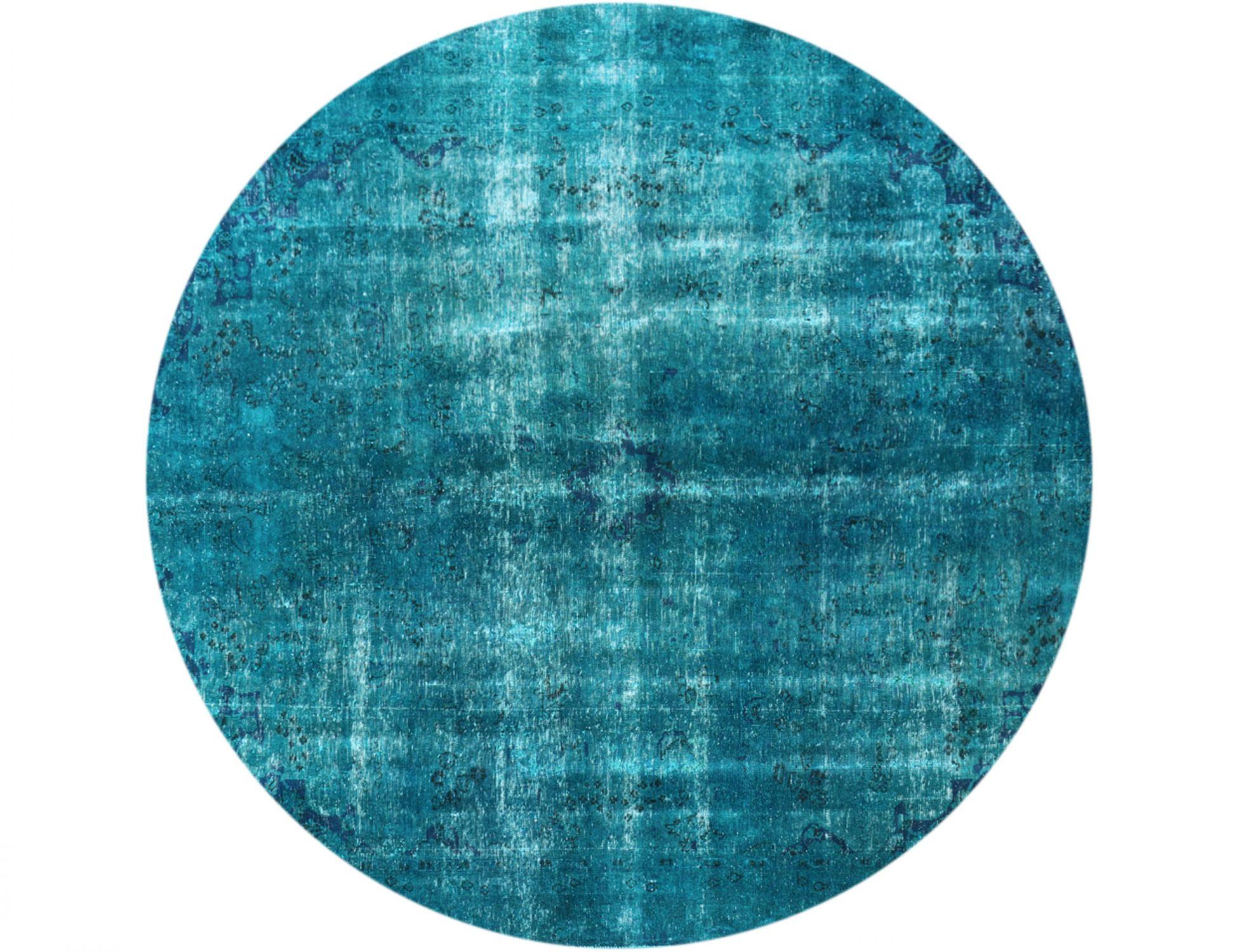 Vintage Teppich rund  türkis <br/>257 x 257 cm