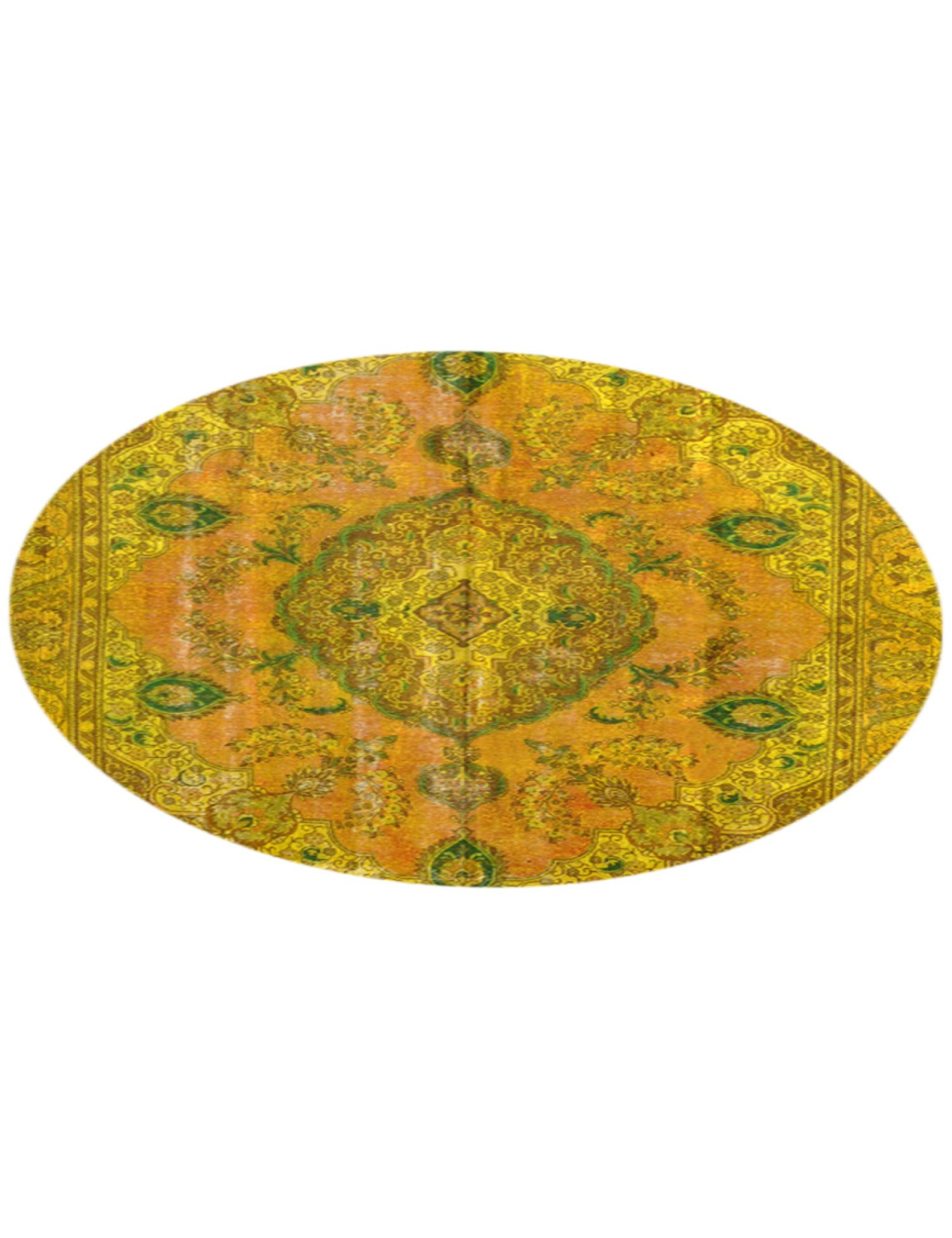 Tappeto Vintage  giallo <br/>276 x 276 cm