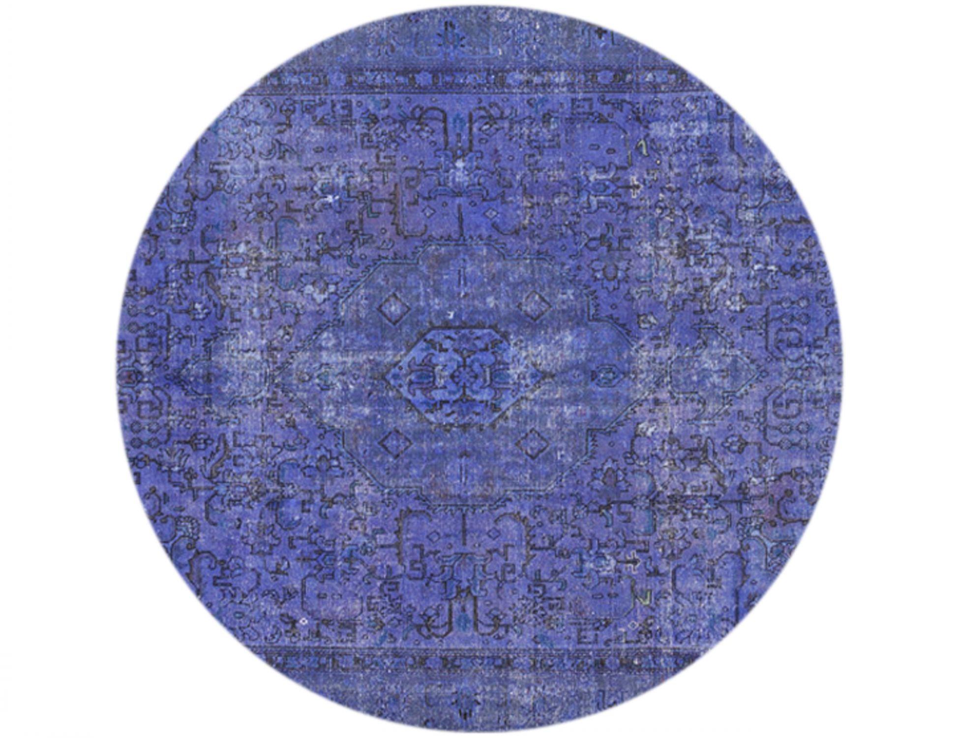 Vintage Teppich rund  blau <br/>275 x 275 cm