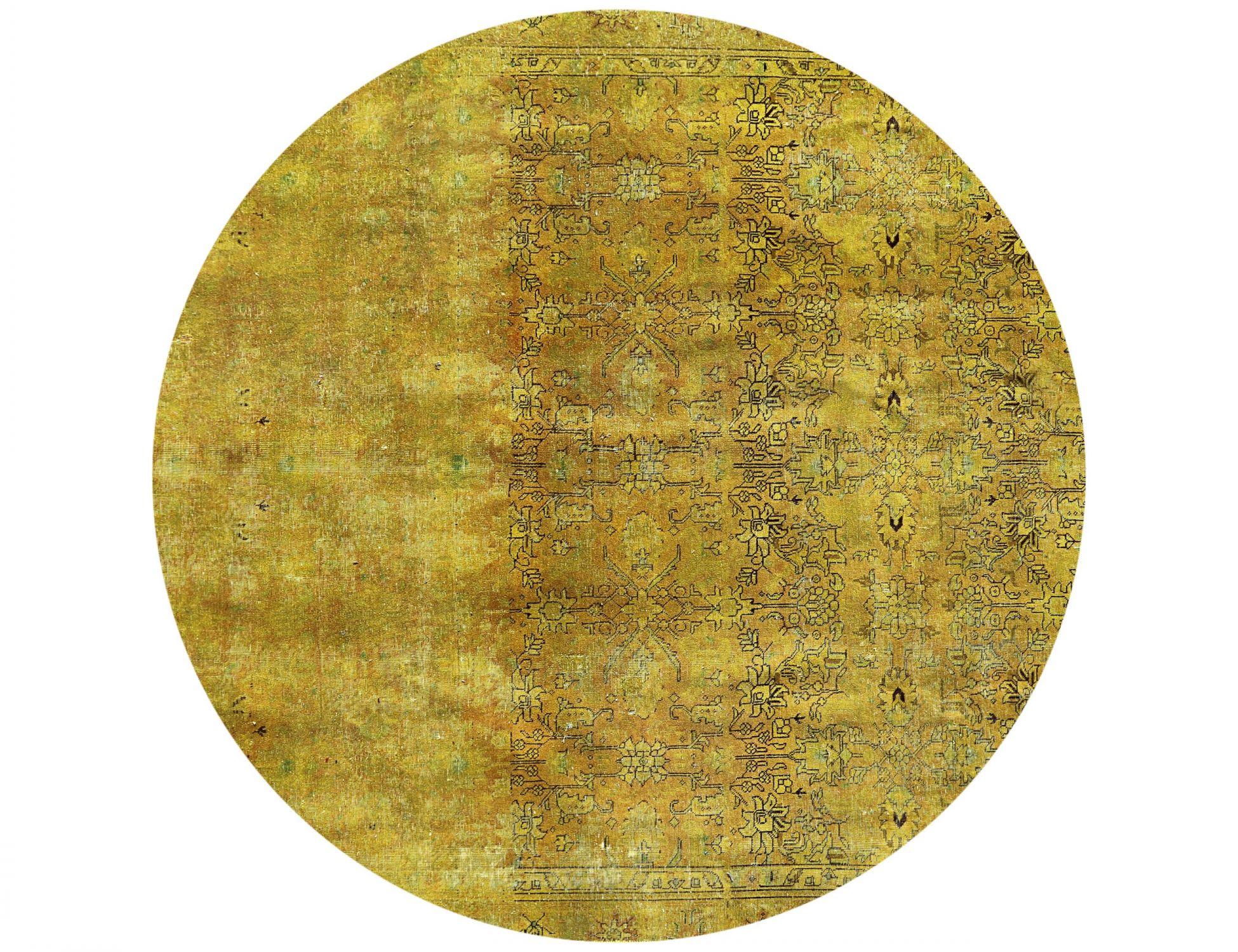 Tappeto Vintage  giallo <br/>256 x 256 cm
