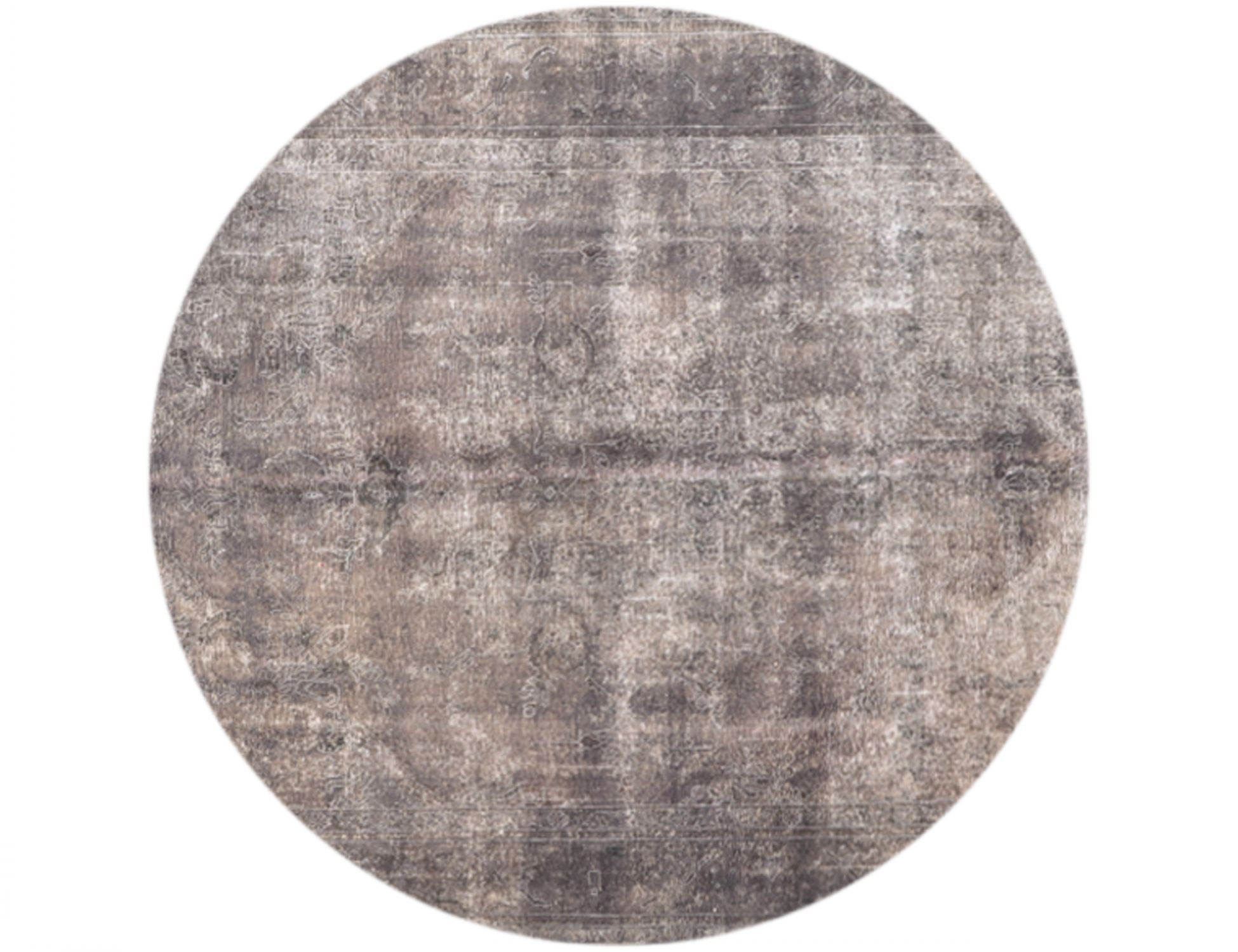 Vintage Teppich rund  grau <br/>287 x 287 cm