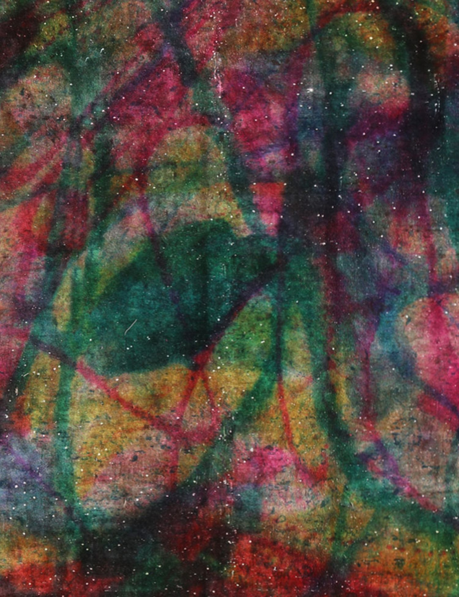 Vintage Teppich rund  grün <br/>265 x 265 cm